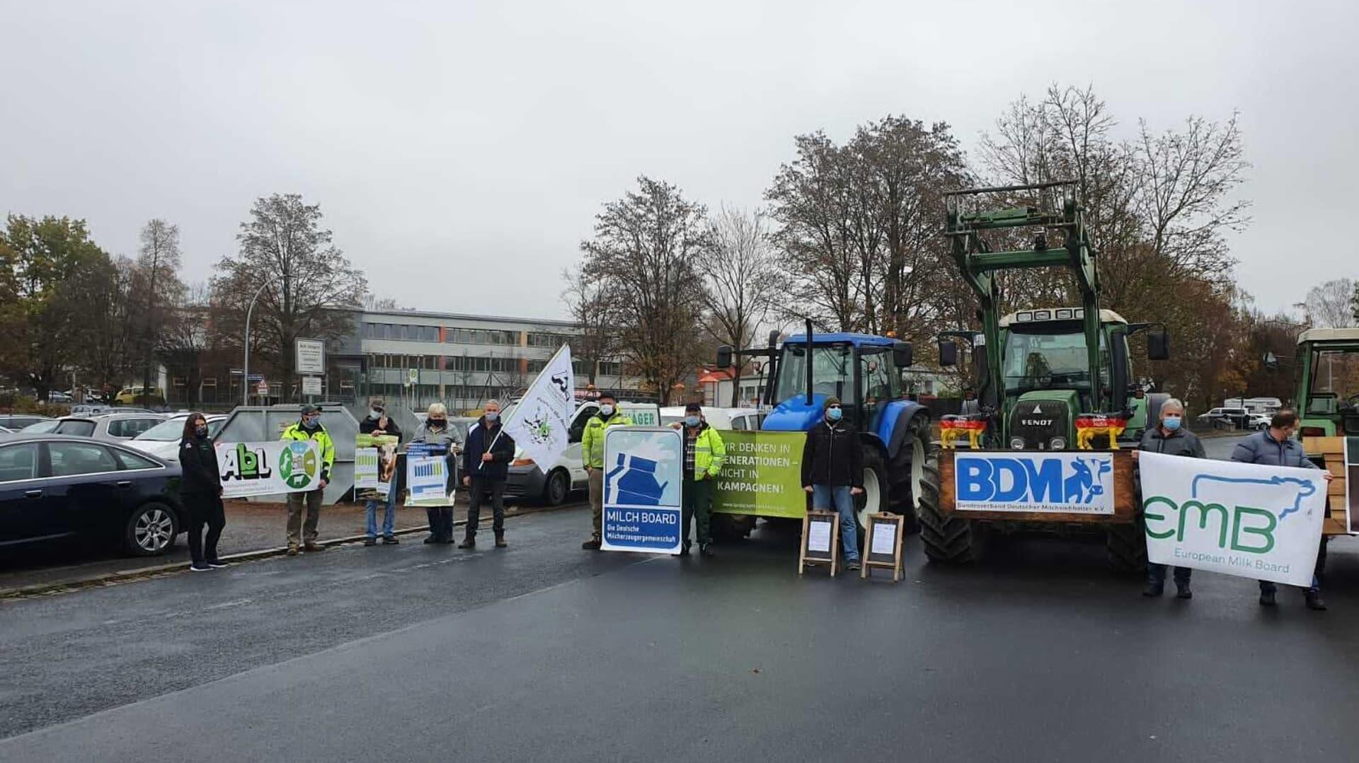 Bauern protestieren