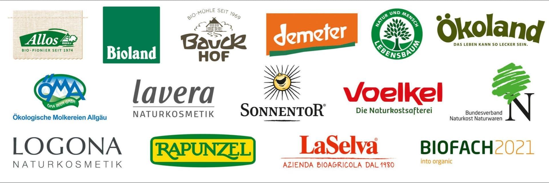 Logos der Sponsoren der Besten Bio-Läden 2021