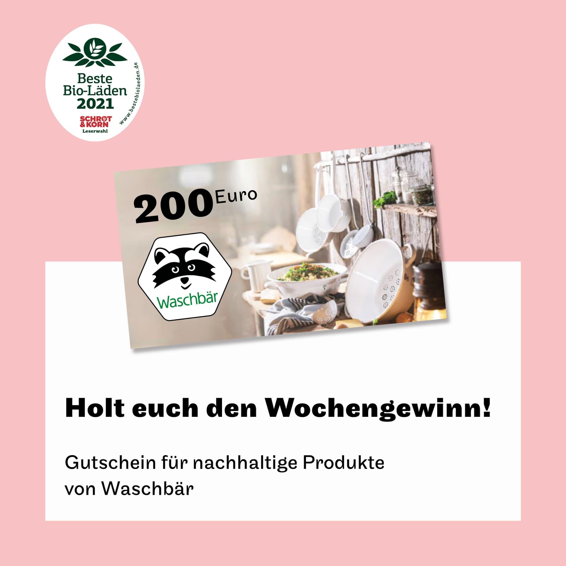 Gutschein von Waschbär über 200 Euro