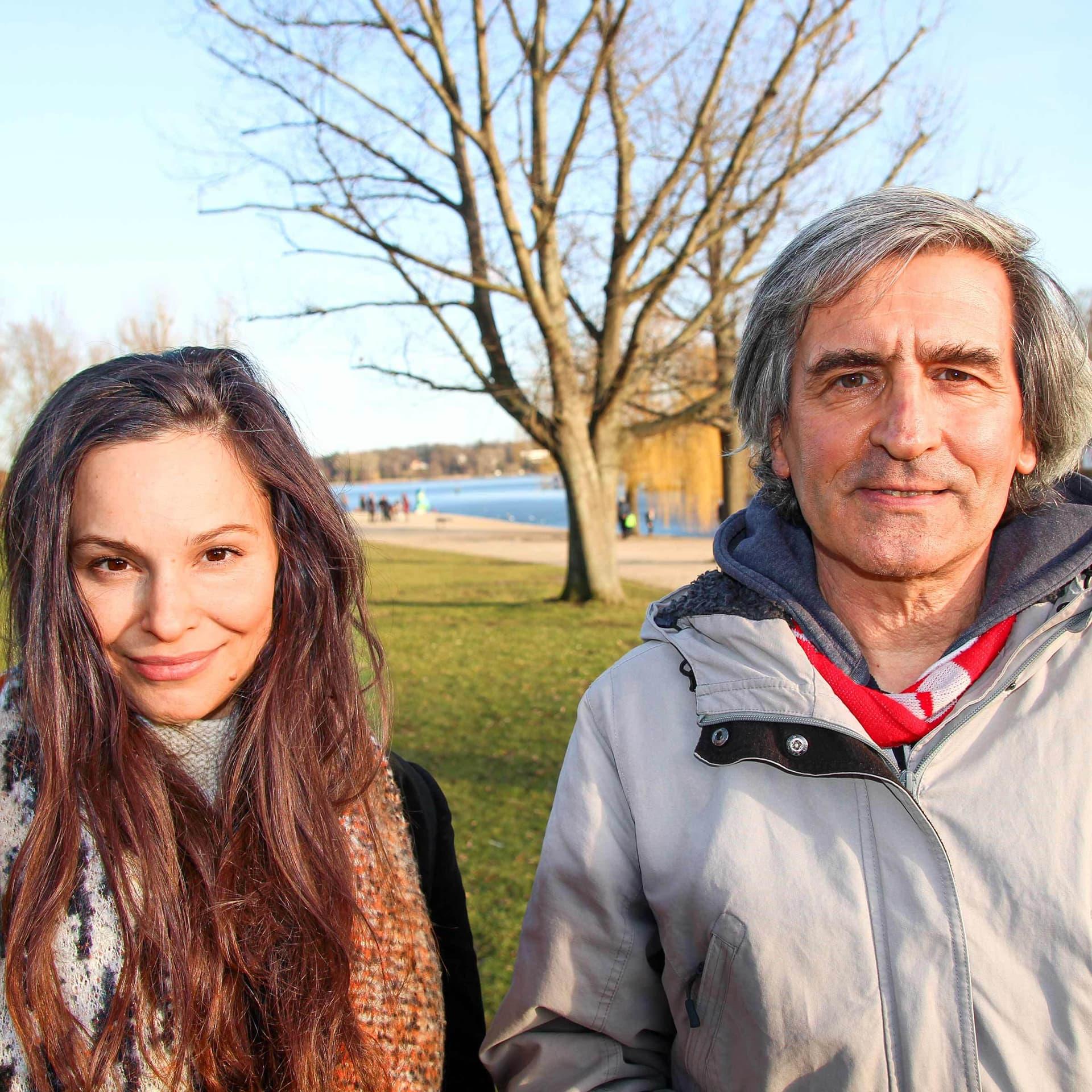 Mina tander und Manfred Loosen am Wannsee