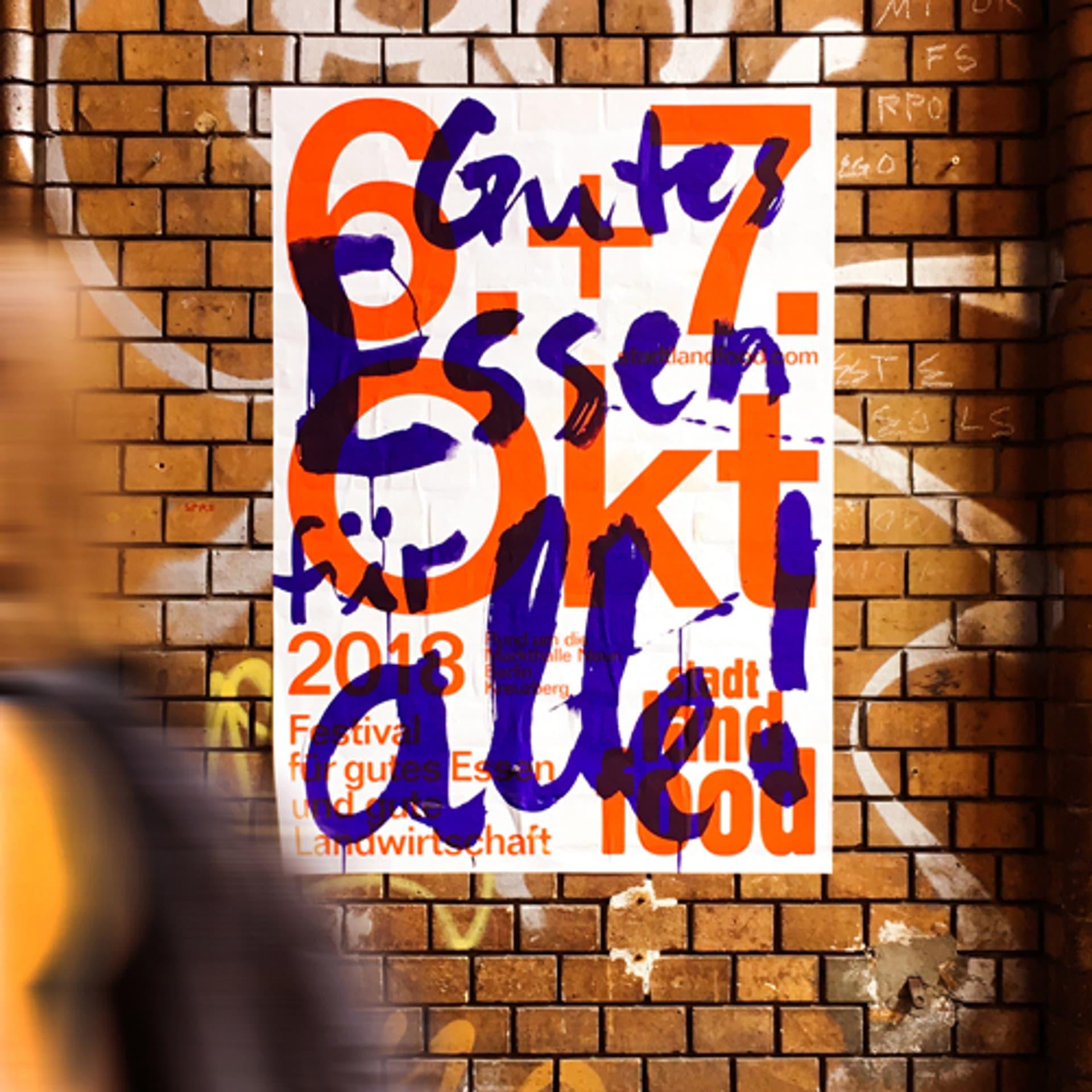 Plakat zum StadtLandFoodFestival Berlin 2018