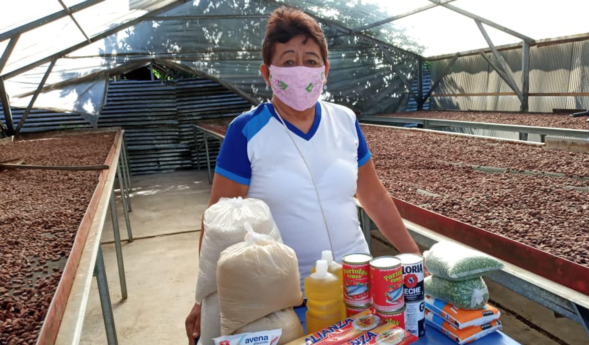 Covid-Pandemie, Unterstützung, Bio-Kakaobauern