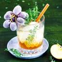 Apfel-Fizz mit Eistrauben