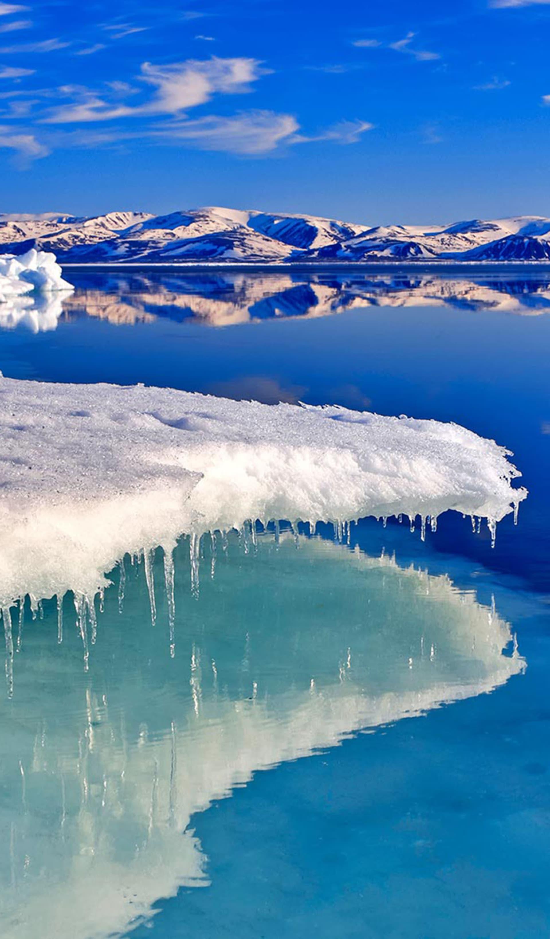 Eiskante in der Arktis