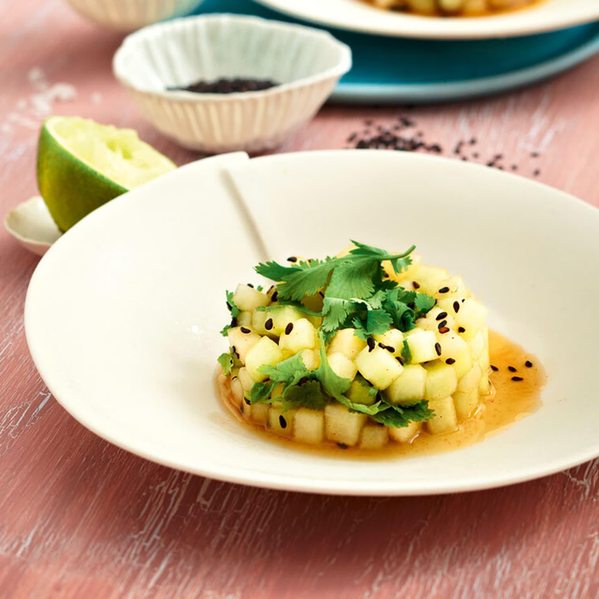 Asiatischer Honigmelonen-Tartar