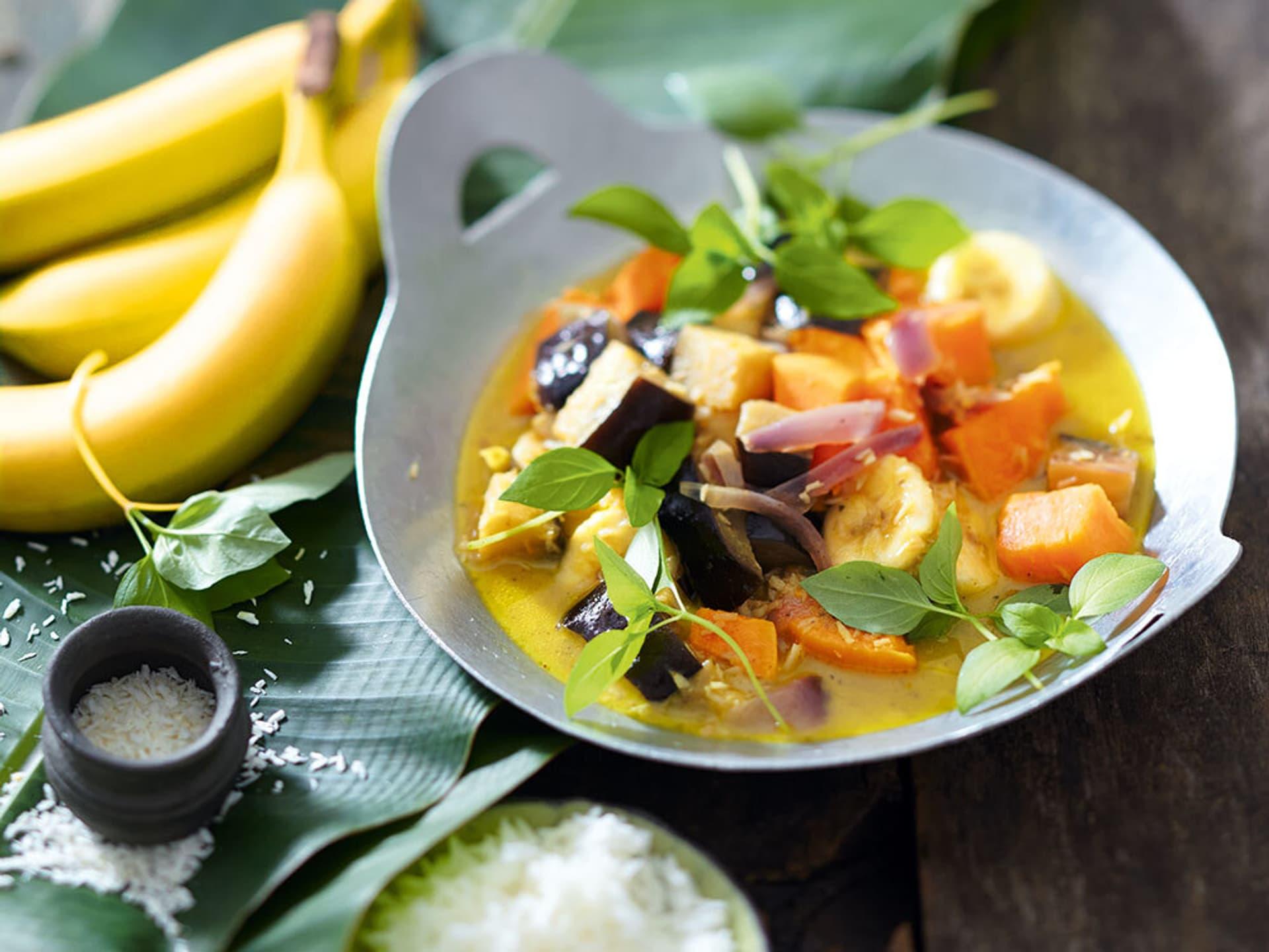 Auberginen-Süßkartoffel-Curry