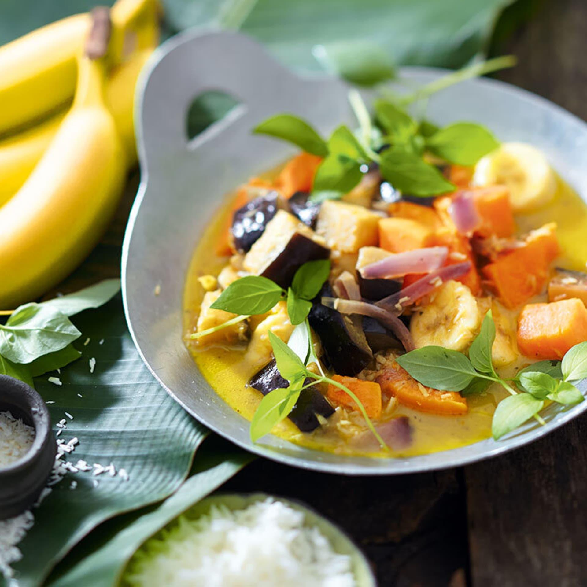Auberginen suesskartoffel curry