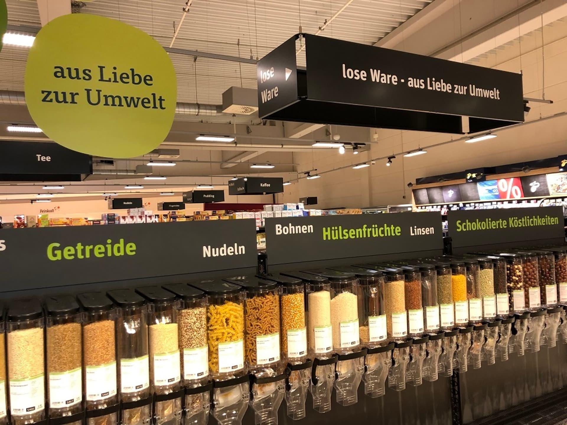 Unverpackt tegut Fulda Kaiserwiesen Regalfoto c tegut