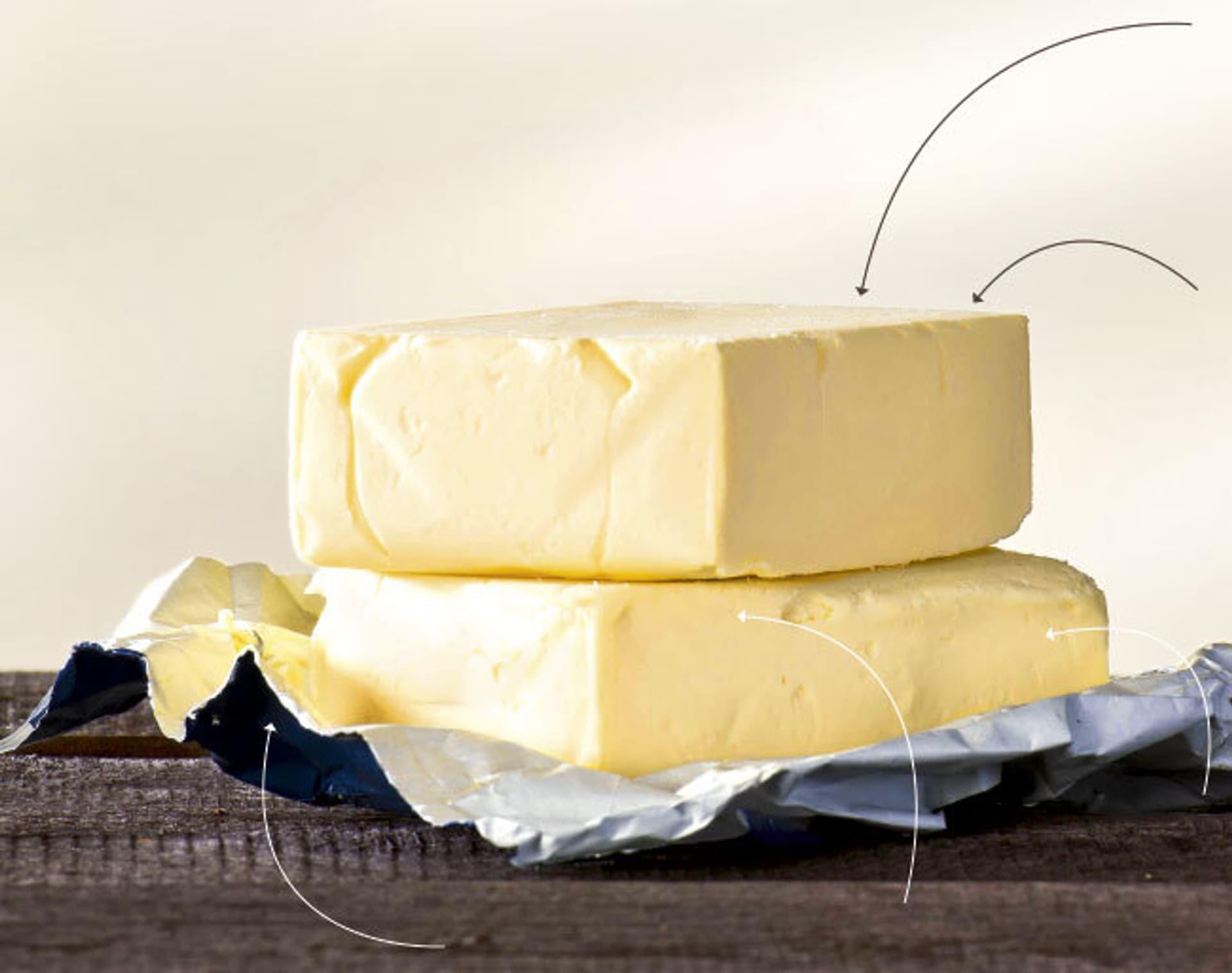 Zwei Butter-Blöcke