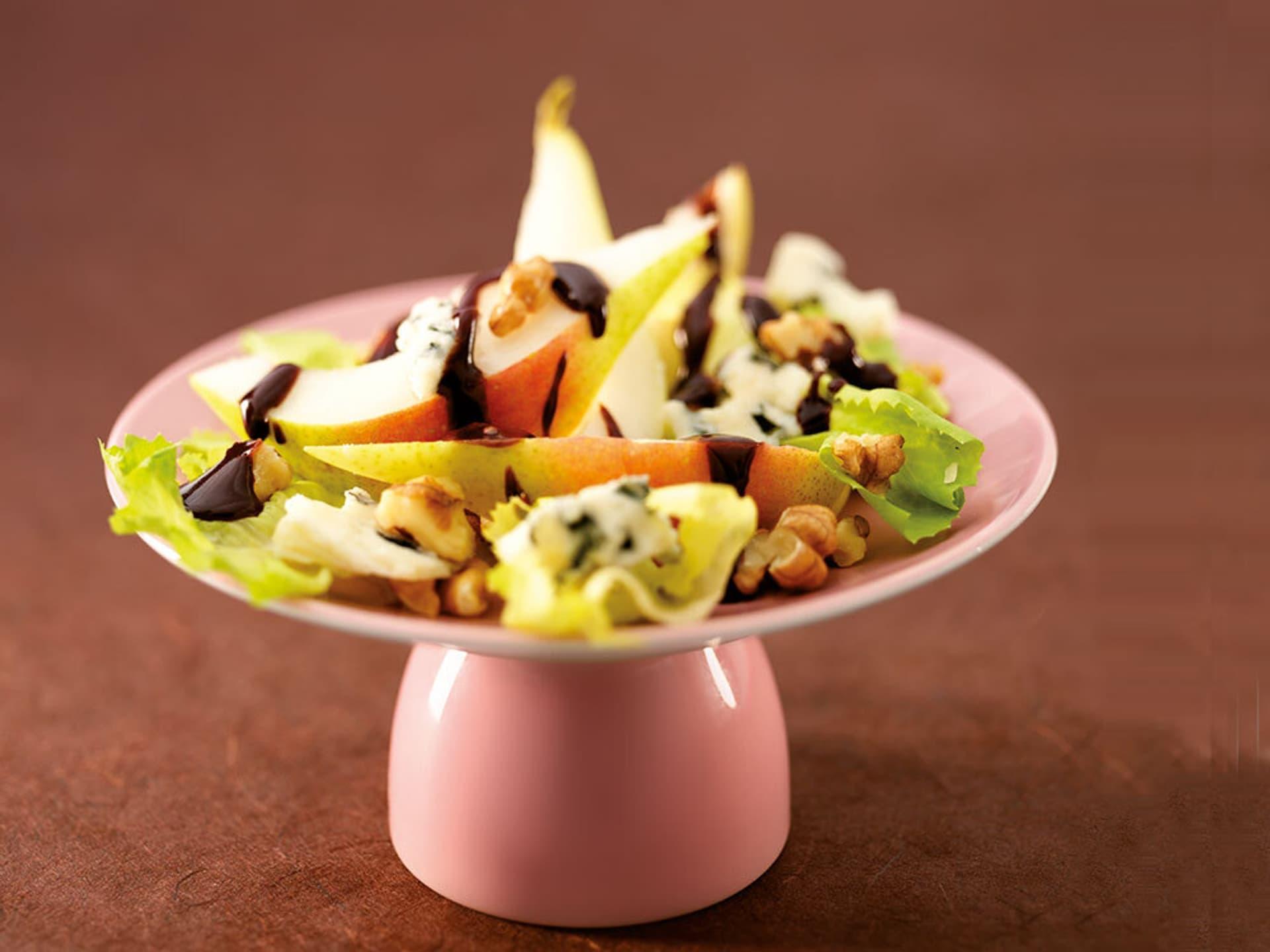 Birnen endivien salat mit schoko vinegar