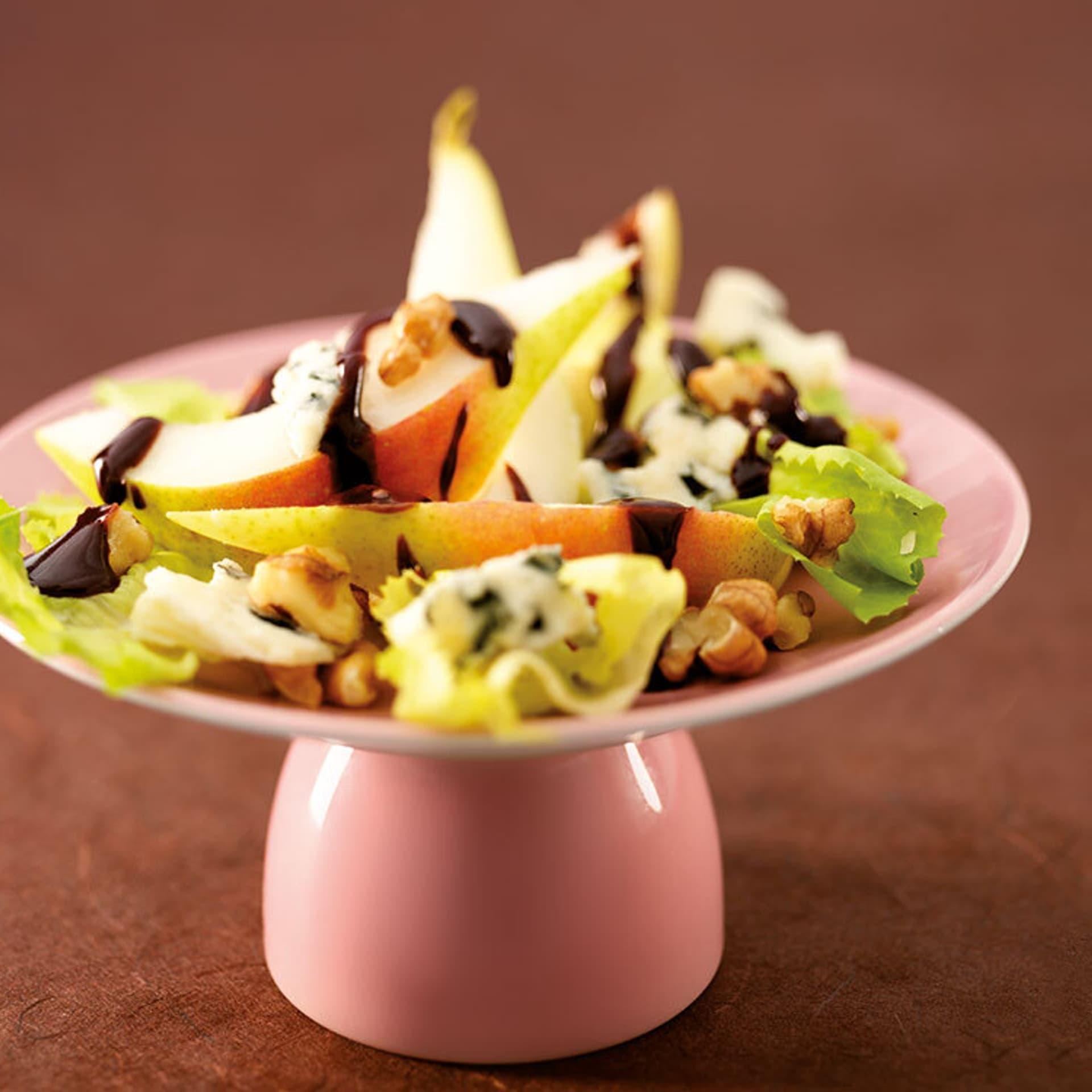 Birnen-Endivien-Salat mit Schoko-Vinegar
