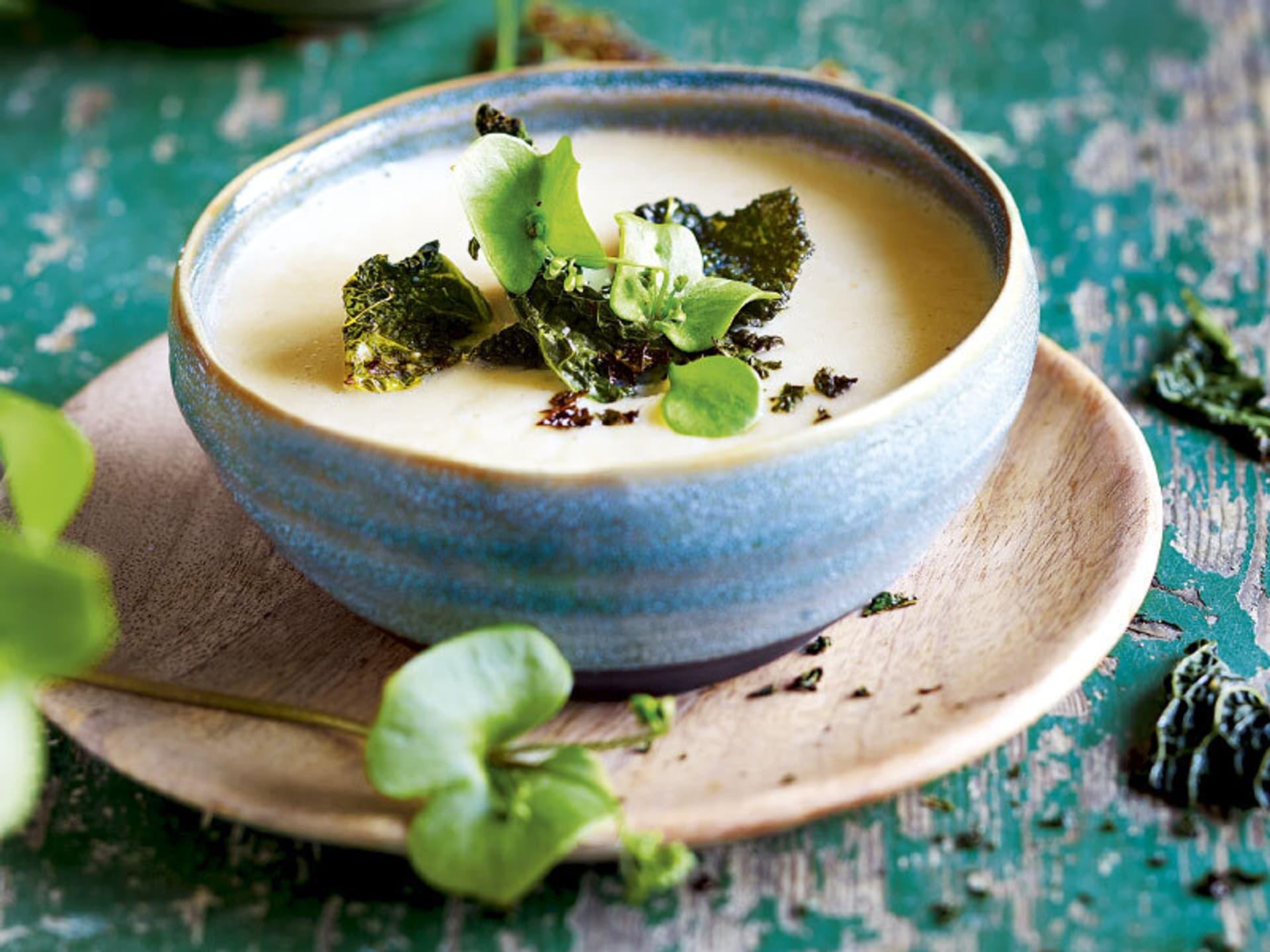 Birnen schwarzwurzel suppe