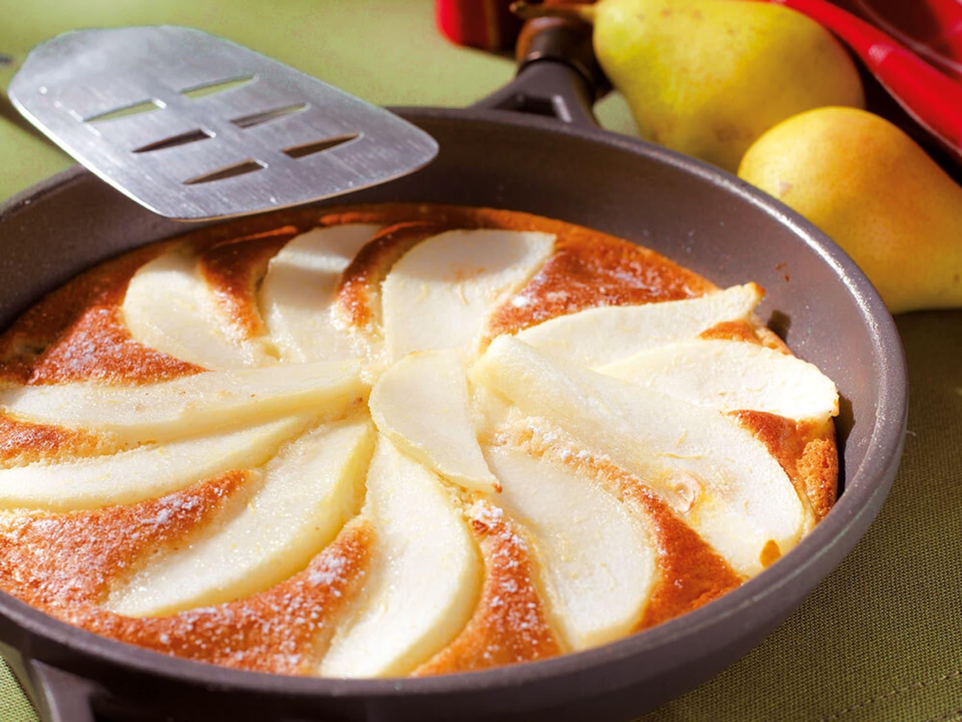 Birnenpfannkuchen mit Haselnuss