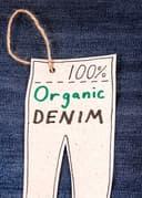100% organic denim label