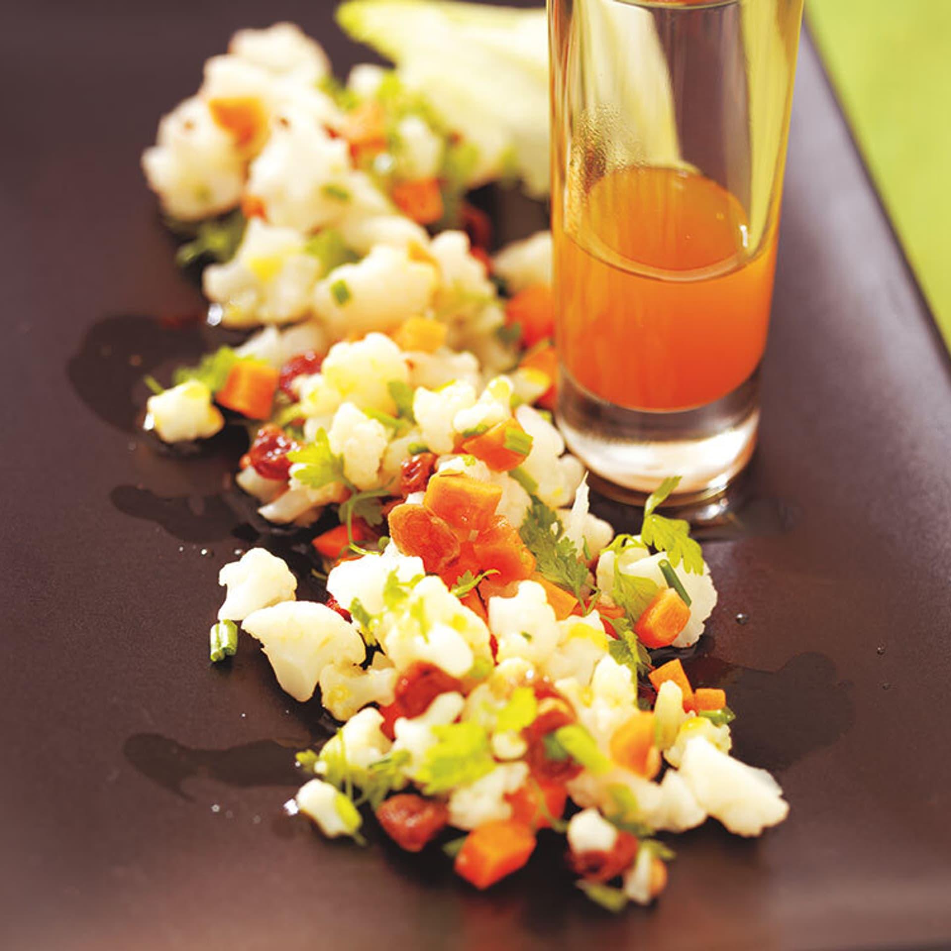Blumenkohl-Couscous mit Curryöl
