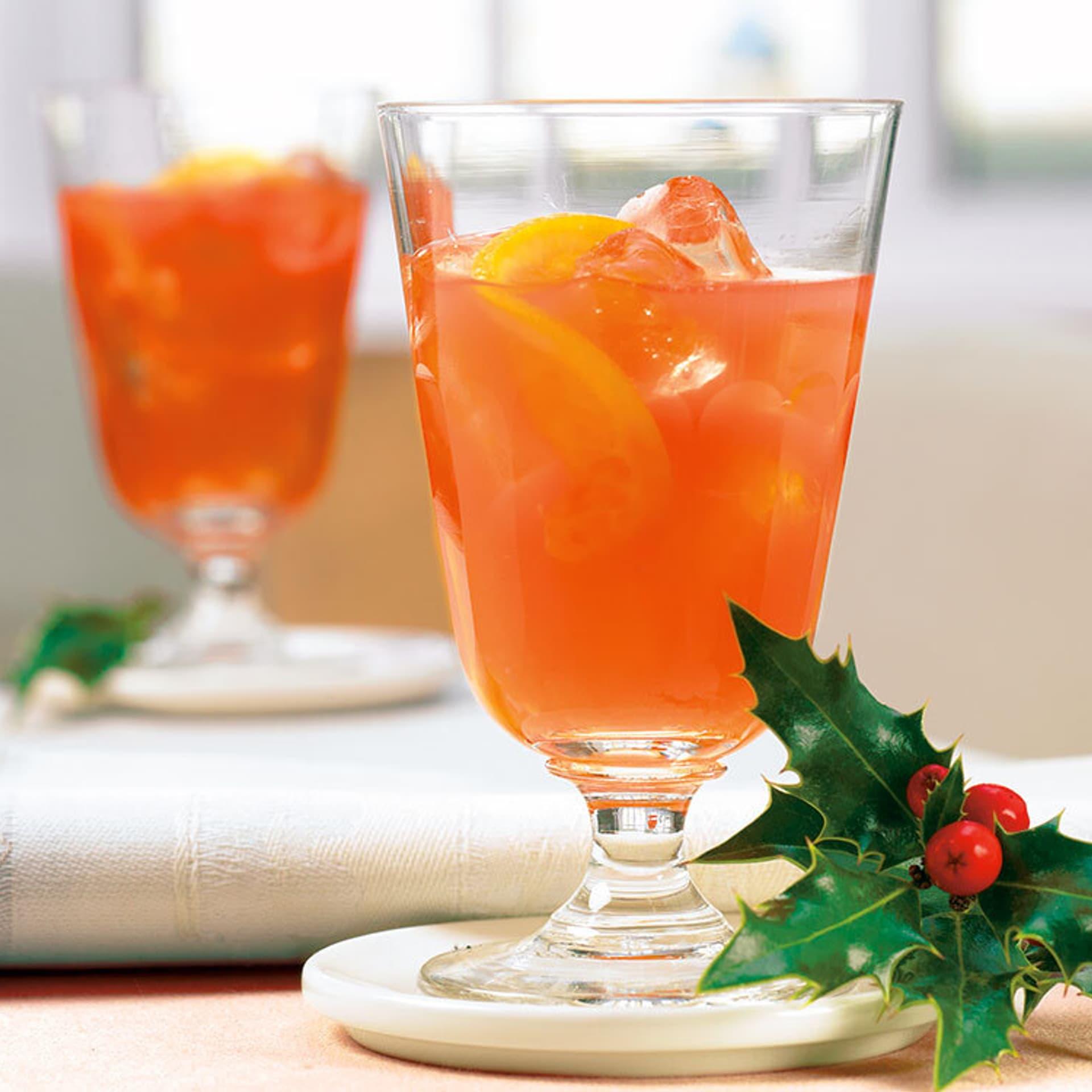 Blutorangen - Ingwer-Cocktail