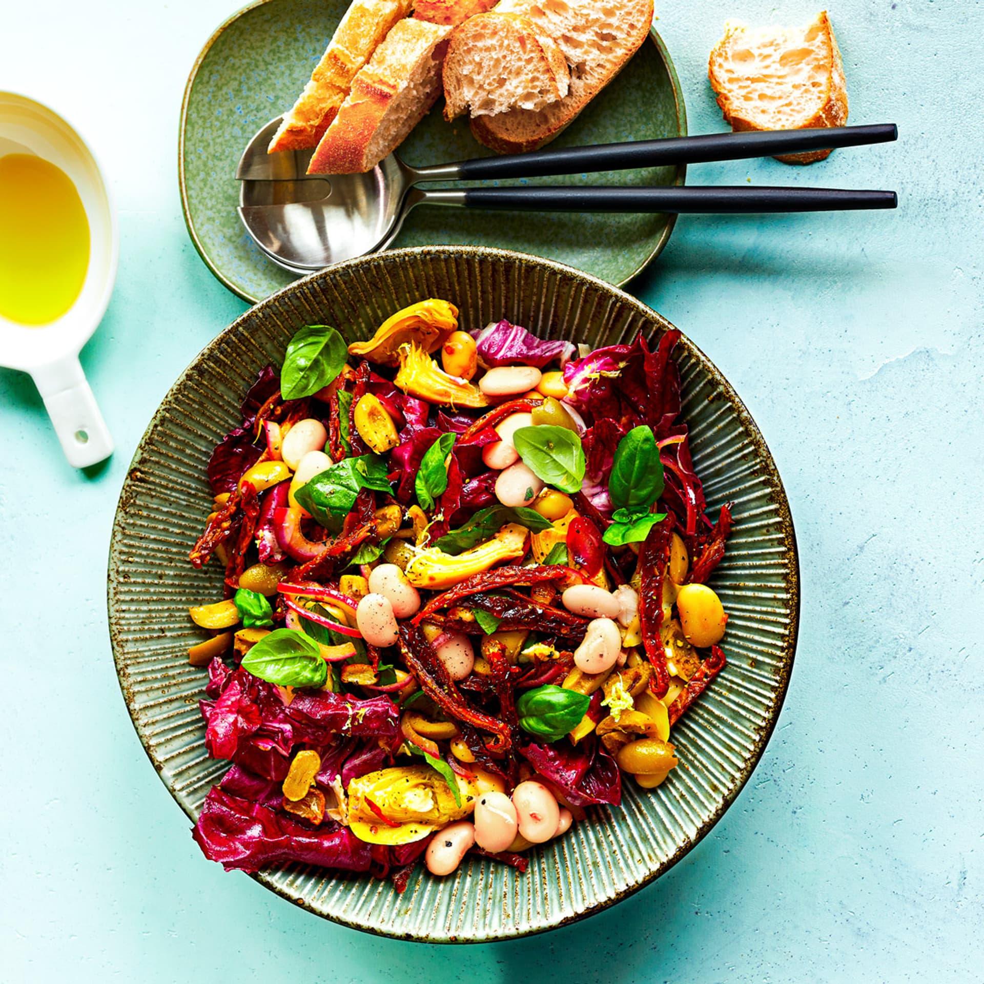 Bohnensalat mit Artischocken