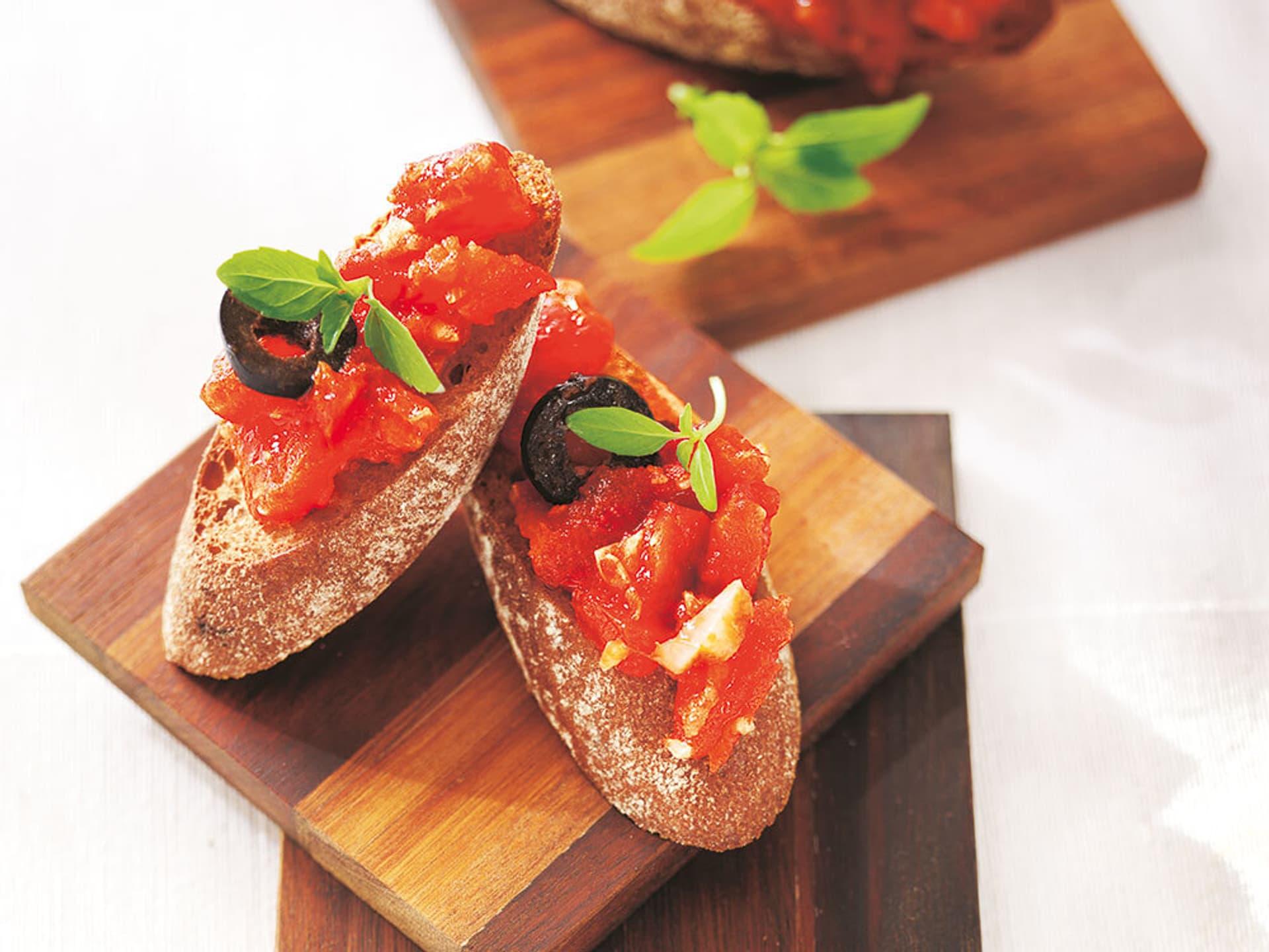 Bruschetta mit Olive