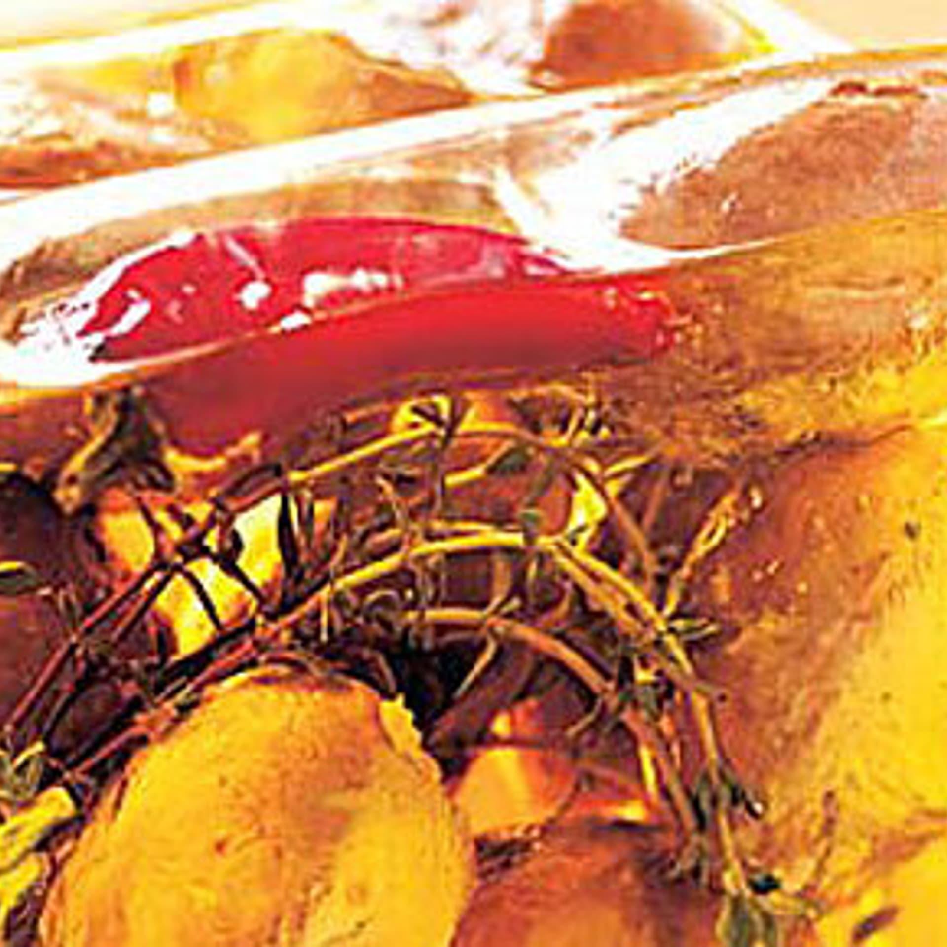 Champignons mit frischkaese in oel