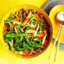Salat Einkorn Spargel Erdbeeren