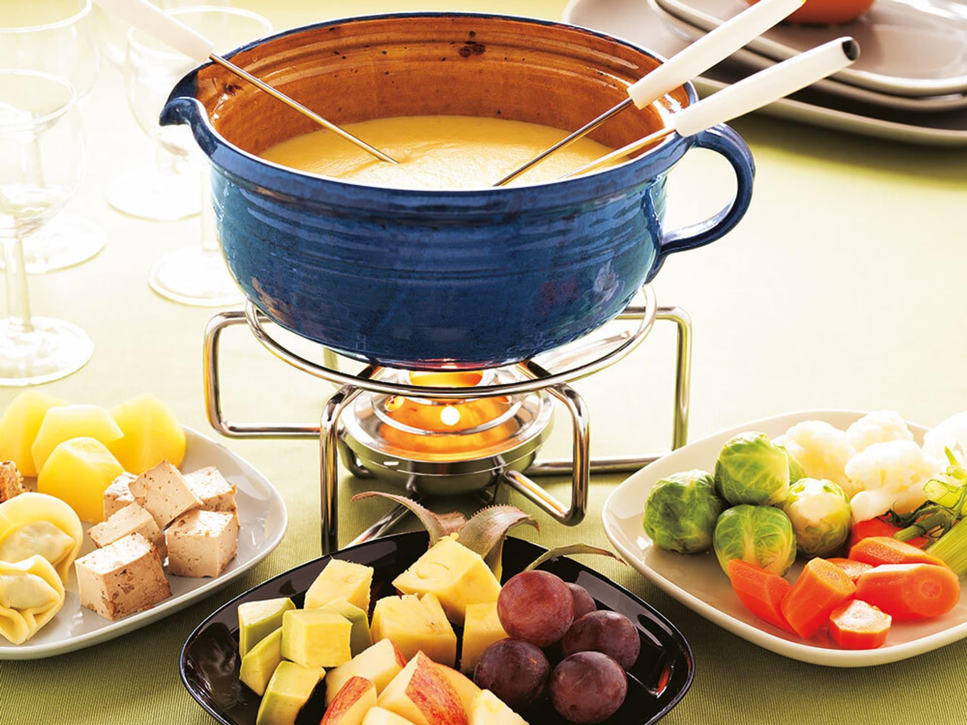 Dreierlei kaese fondue