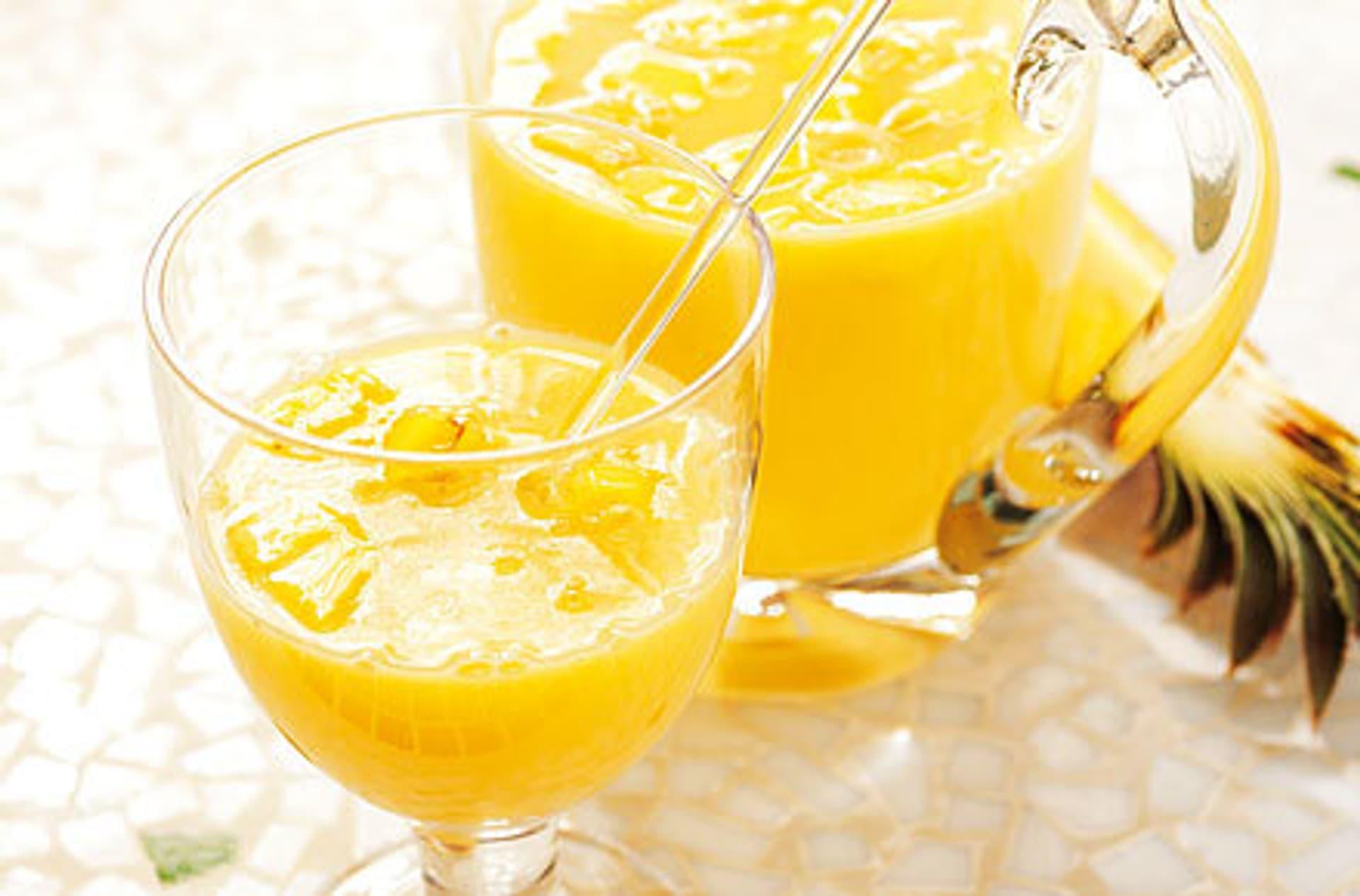 Eierlikoer bowle mit mango