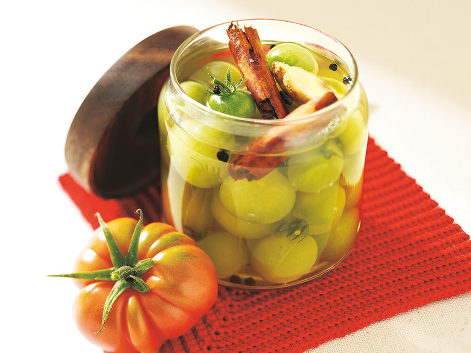 Eingelegte gruene tomaten