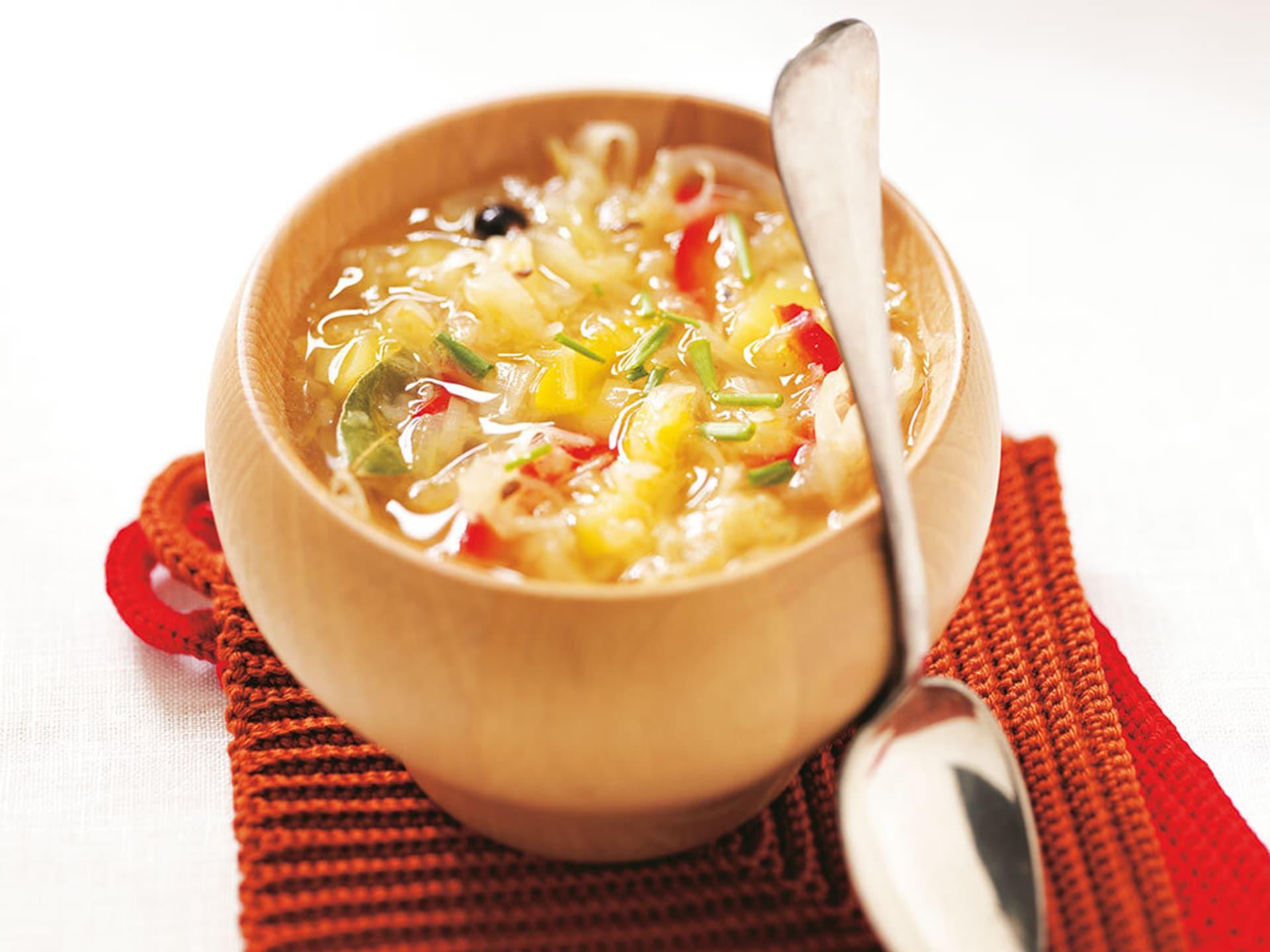 Elsässer Sauerkrautsuppe