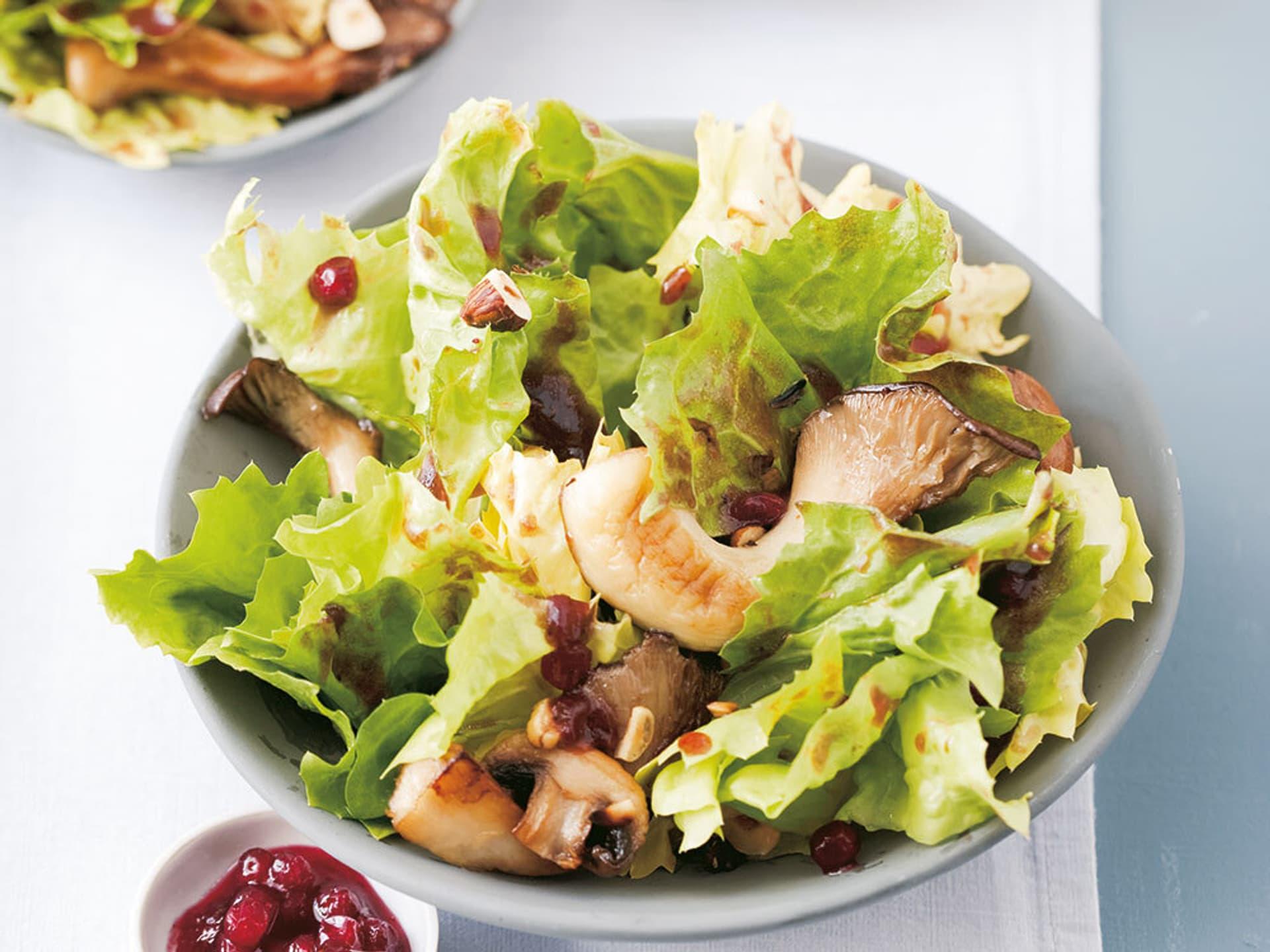Endivien pilz salat