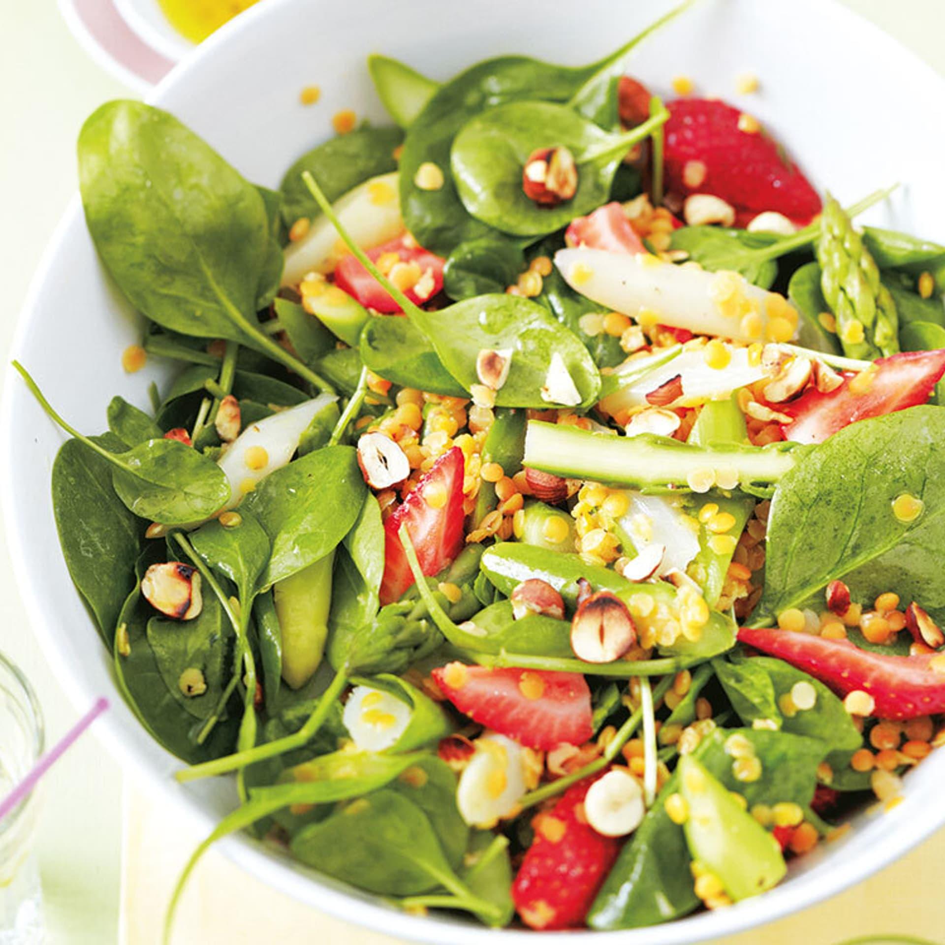 Erdbeer-Spinat-Salat