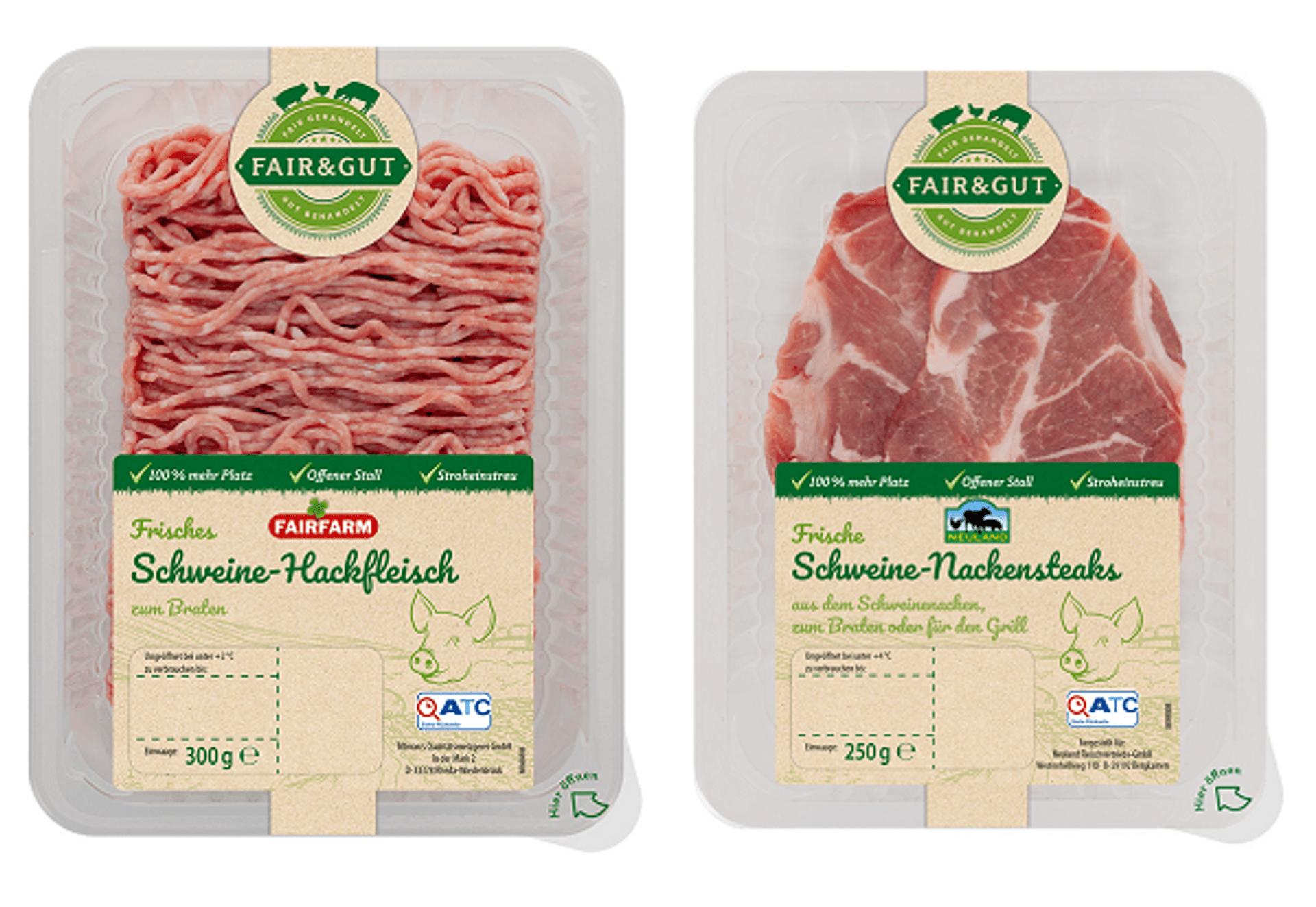 Aldi Fair und Gut Neuland Fairfarm Scheinefleisch c Aldi Sued