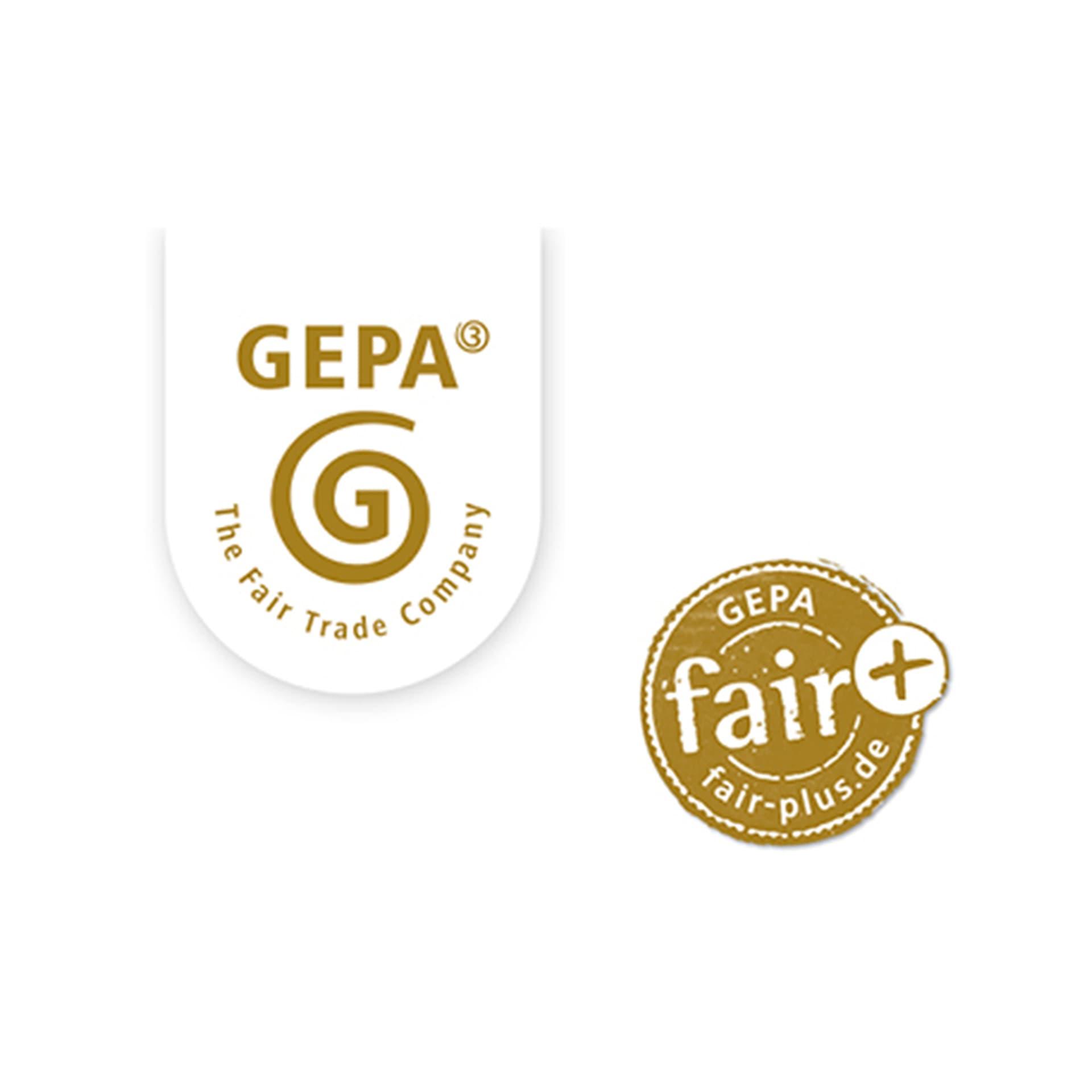 Logos von Gepa und Fair+