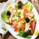 Fenchelsalat mit apfel und brombeeren