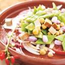 Feuriger Prunkbohnensalat