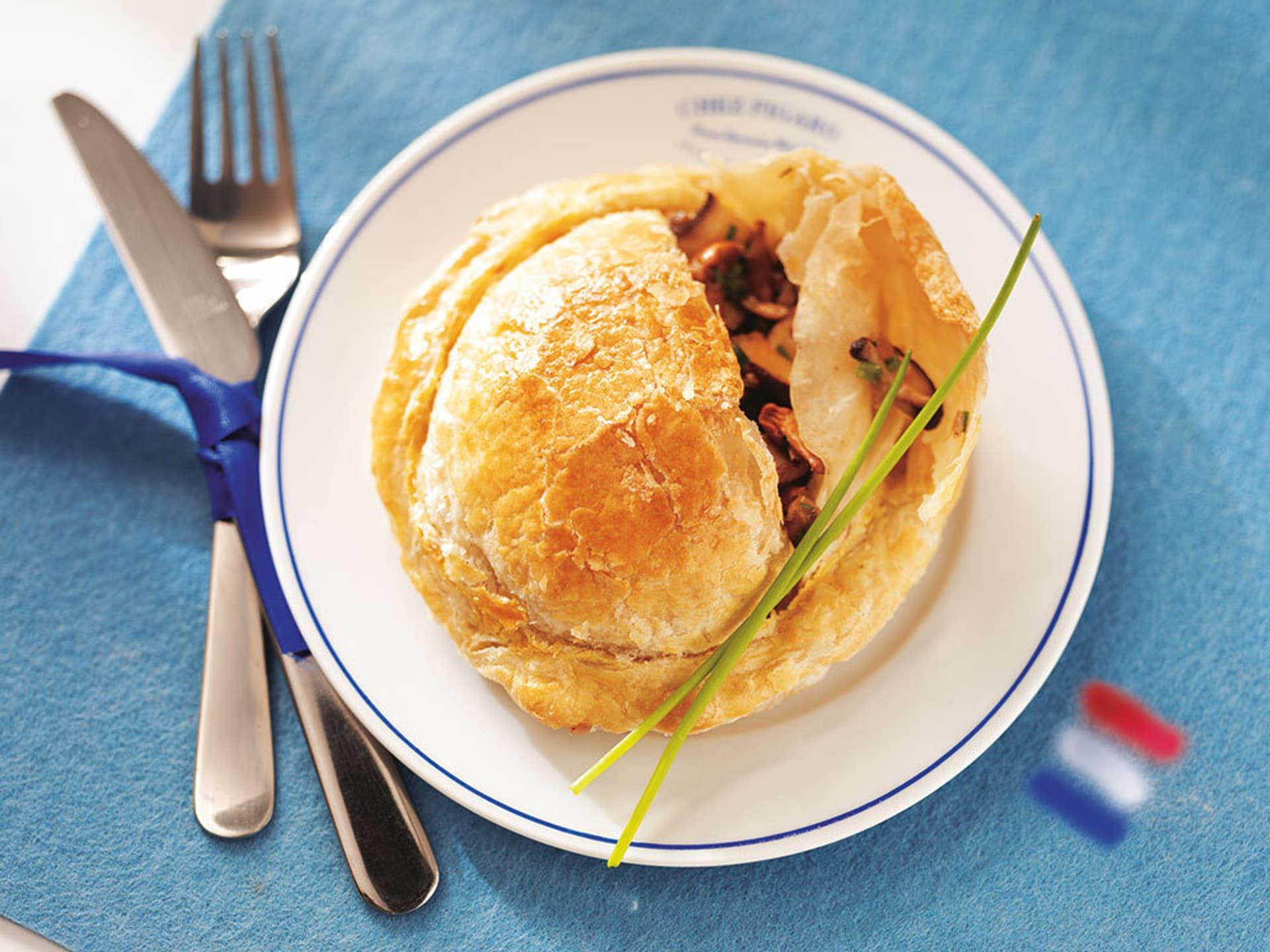 Franzoesische Pilz-Tartelettes