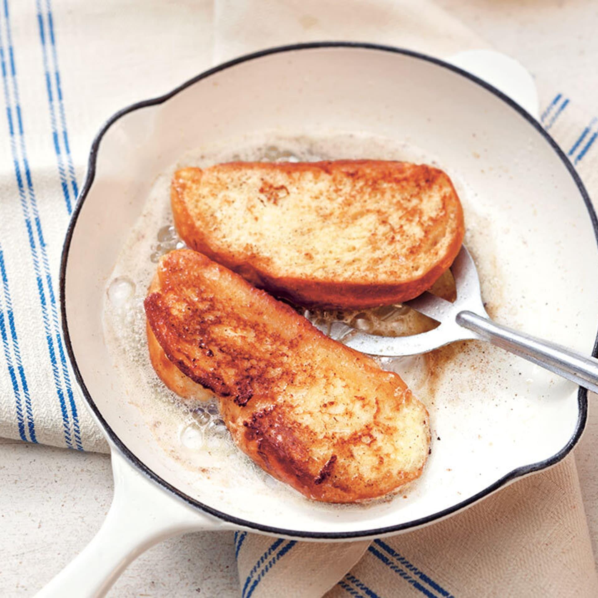 French Toast mit Apfelkompott