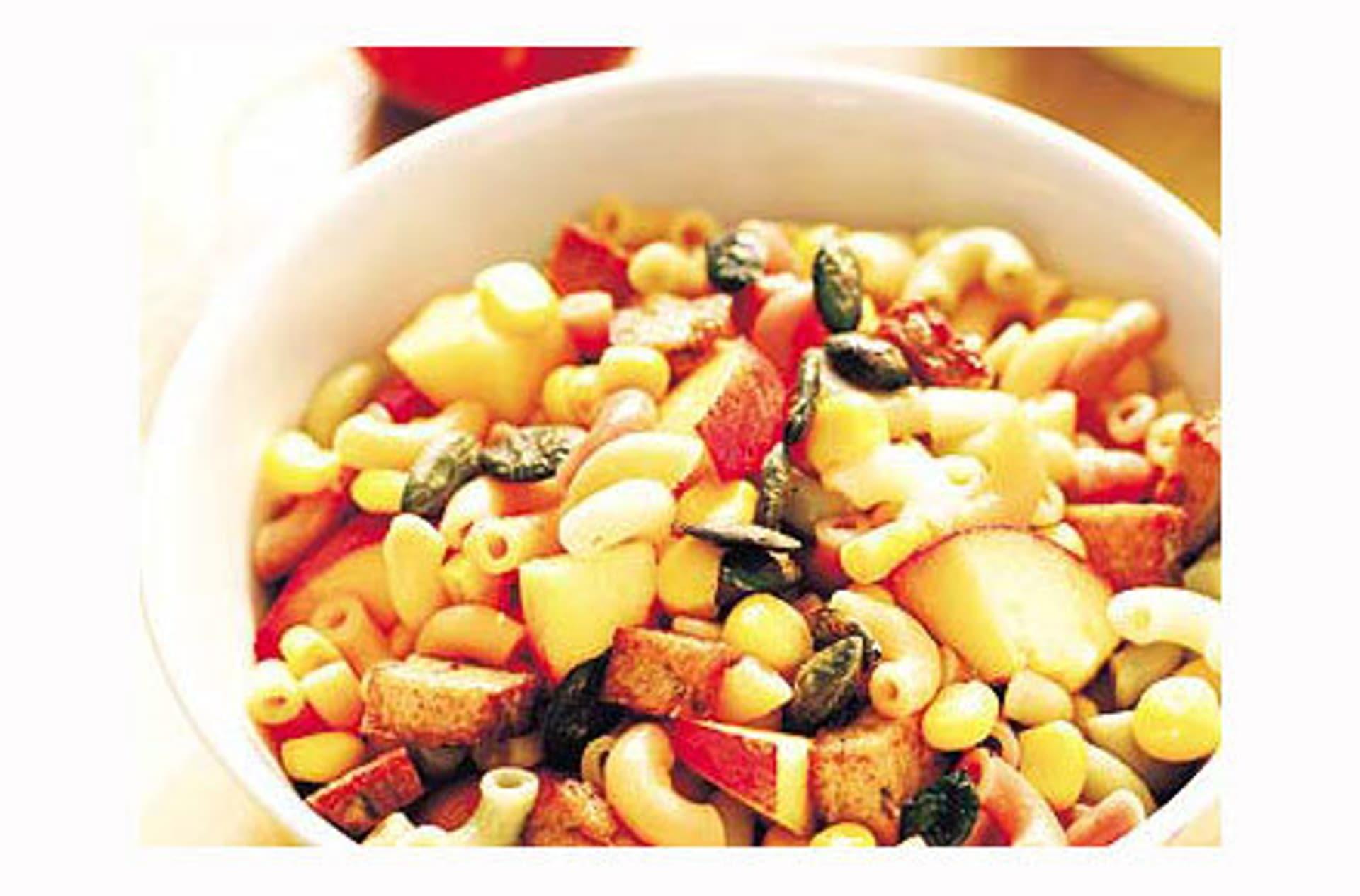 Fruchtiger nudelsalat