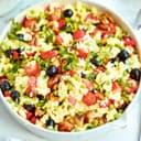 Gemüse paella mit oliven