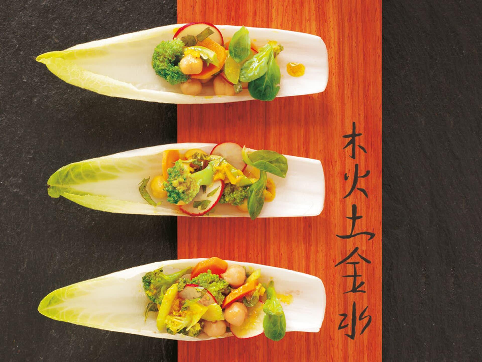 Gemüsesalat Kichererbsen Asien