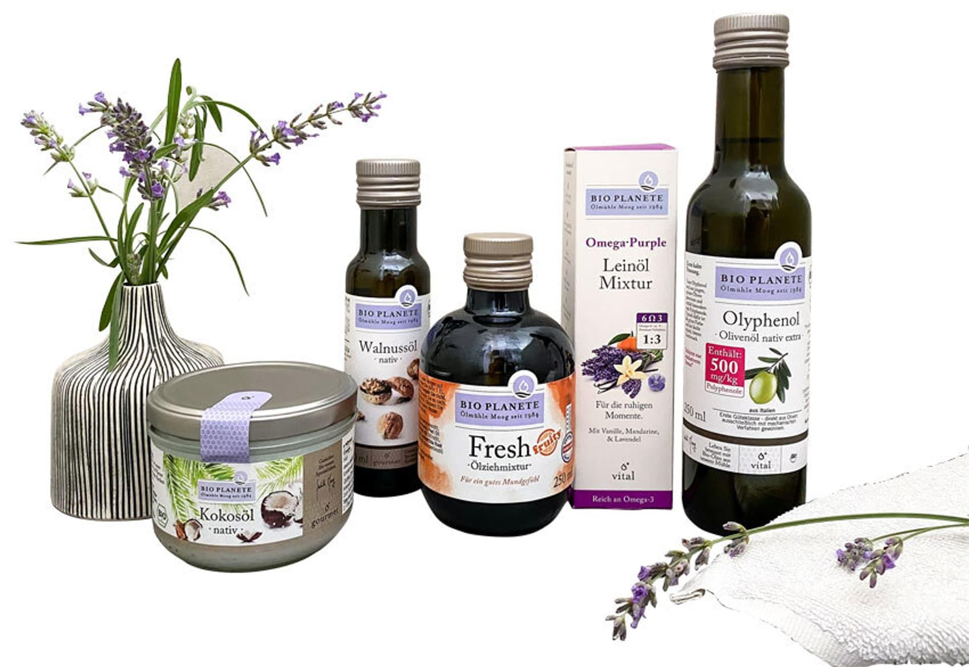 Gewinnpaket verschiedene Öle von Bio Planète (© PR-Materia)l