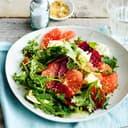 Grapefruit-Salat mit Mozzarella