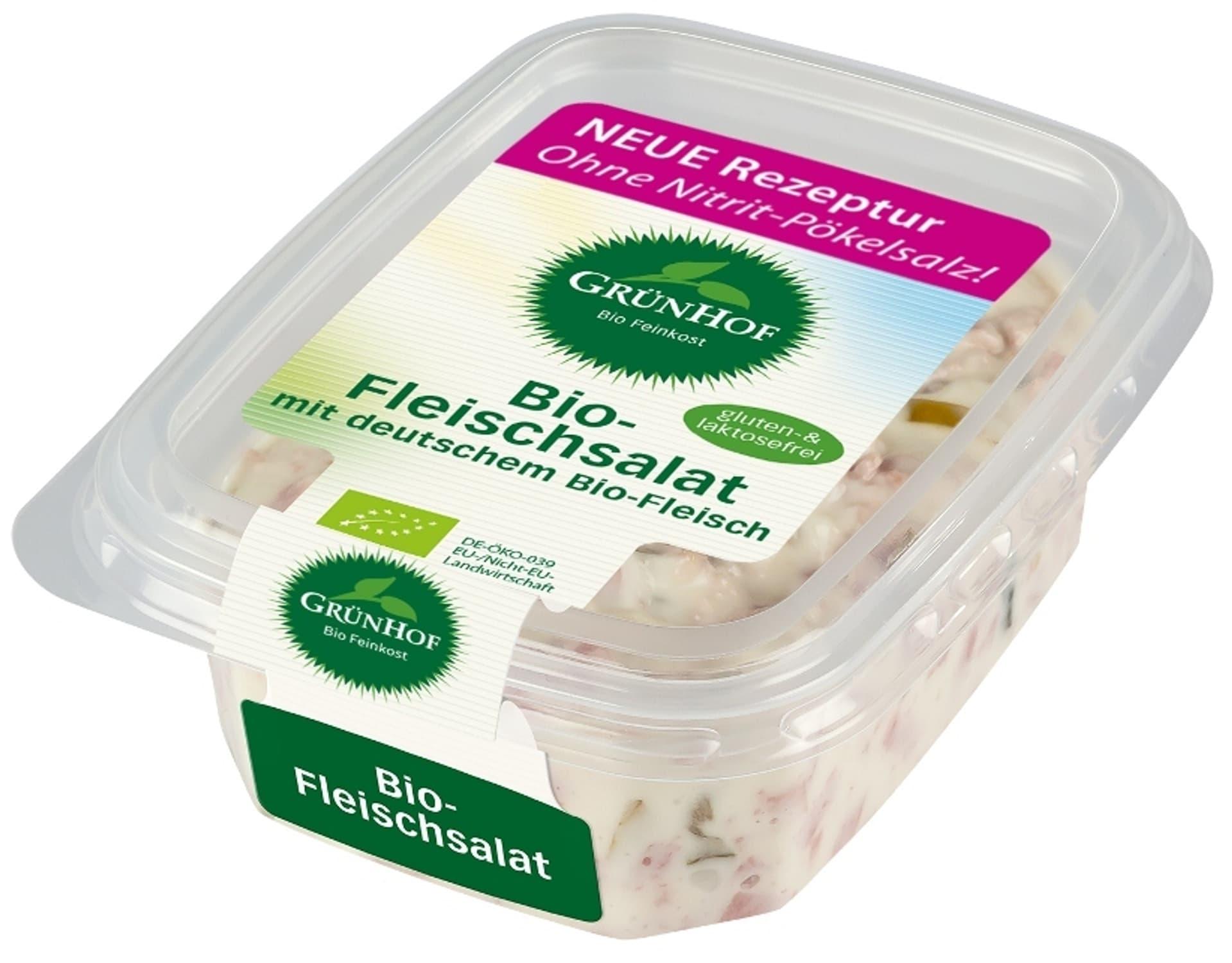 Produktfoto Gruenhof Bio Fleischsalat 150g Neue Rezeptur c gruenhof