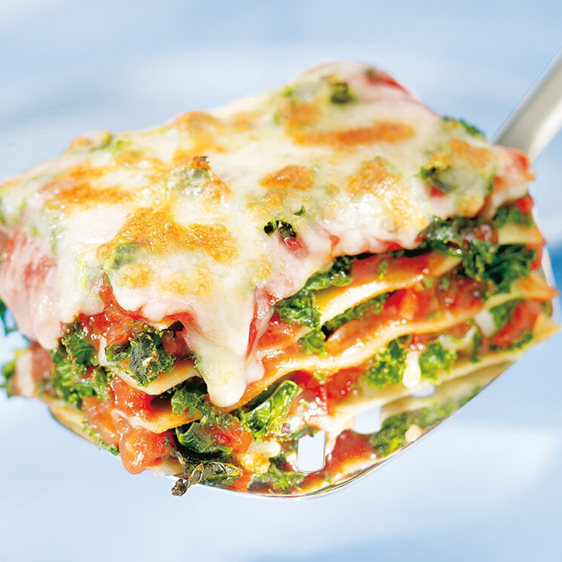 Grünkohl lasagne mit tomatensoße