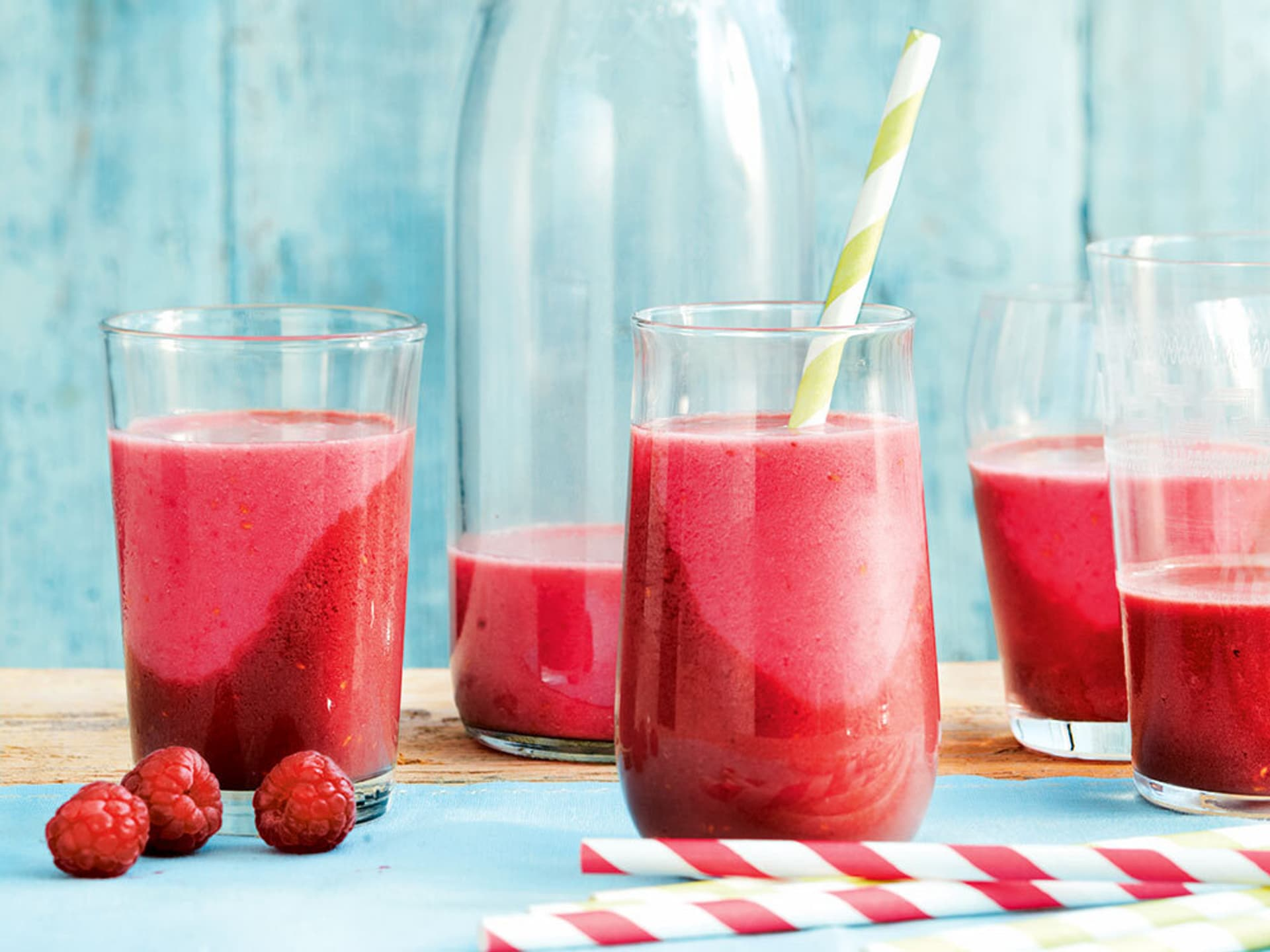 Himbeer hafer smoothie