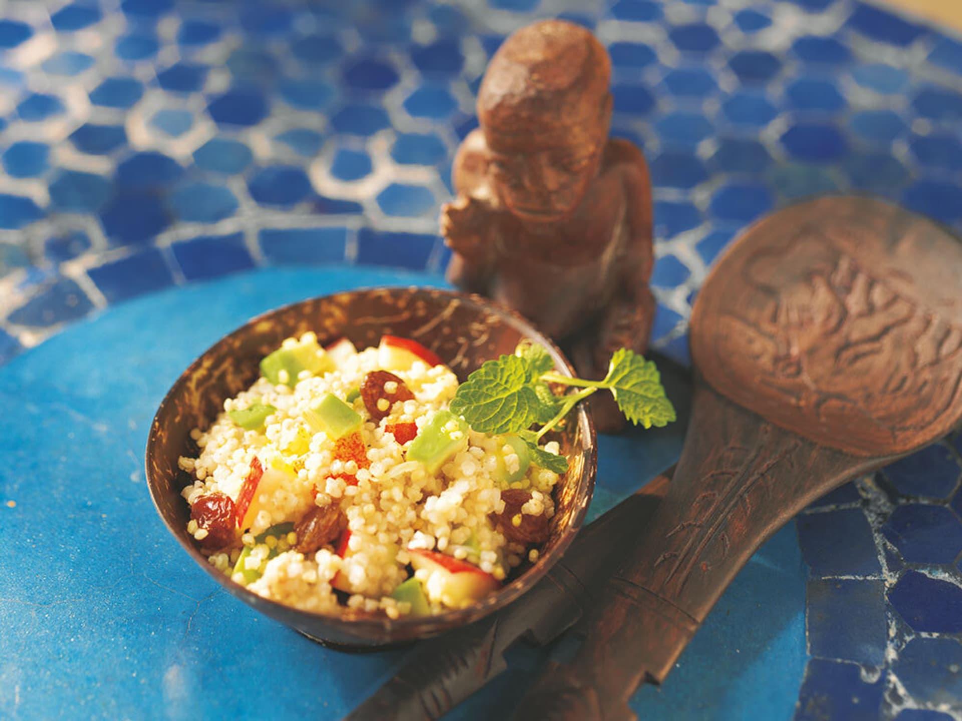 Hirsesalat mit Avocado und Apfel
