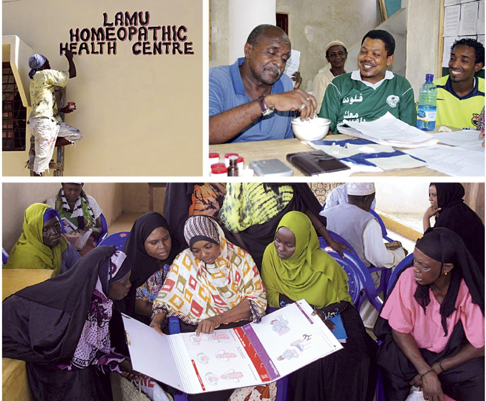 Homöopathie für Flüchtlinge (Fotos: Homöopathen ohne Grenzen)