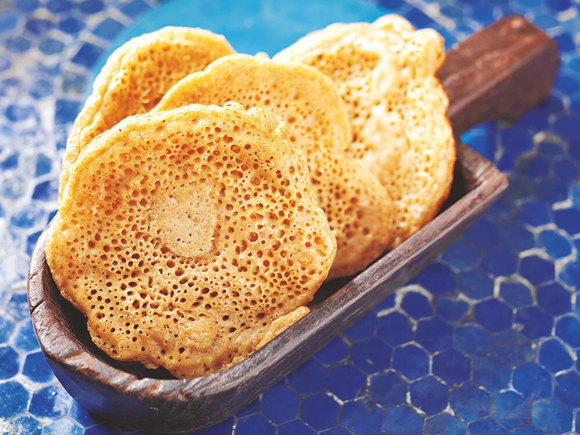 Injera gesaeuerte pfannkuchen