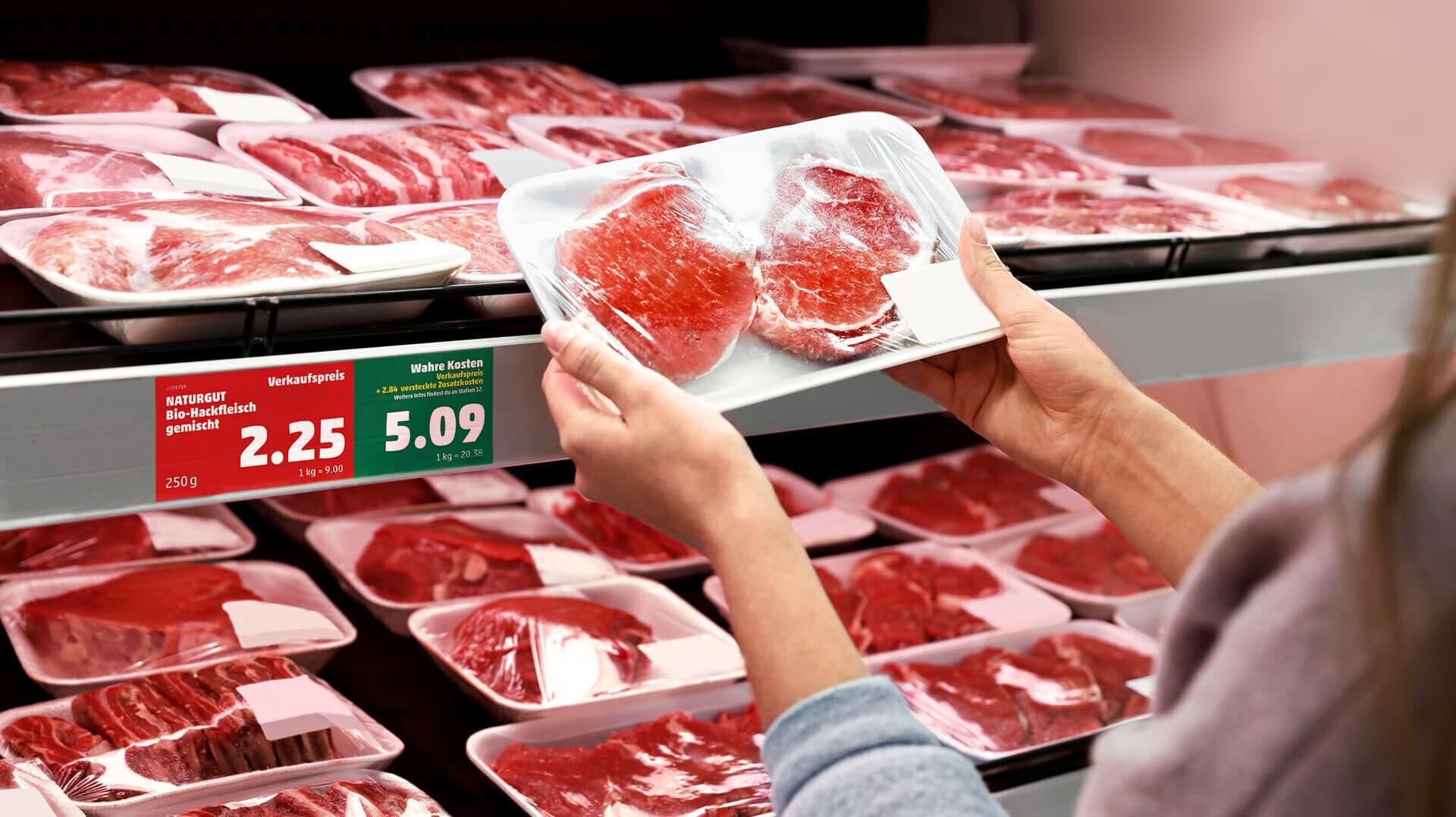 Wahre Preise an der Fleischtheke