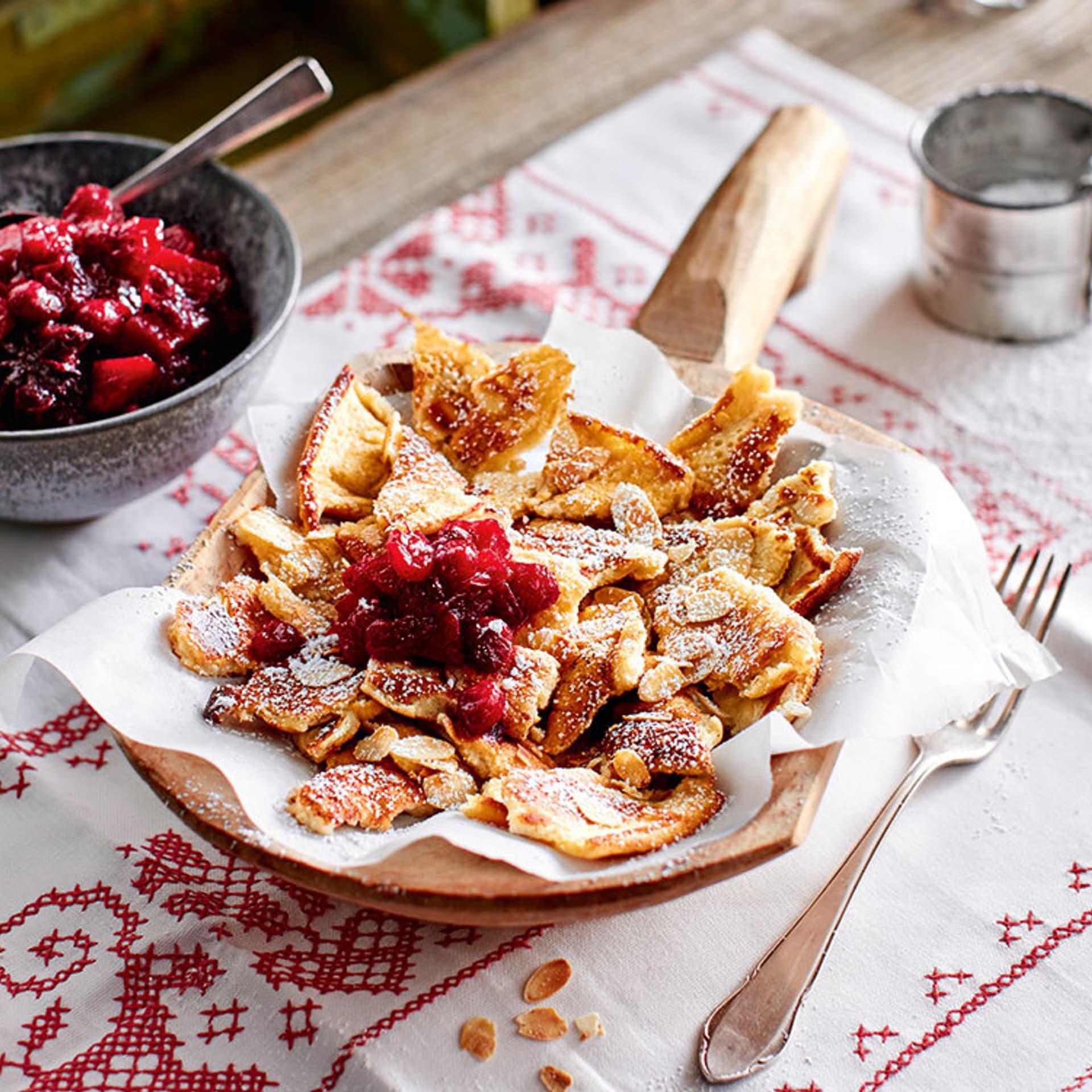 Kaiserschmarrn mit Cranberrys