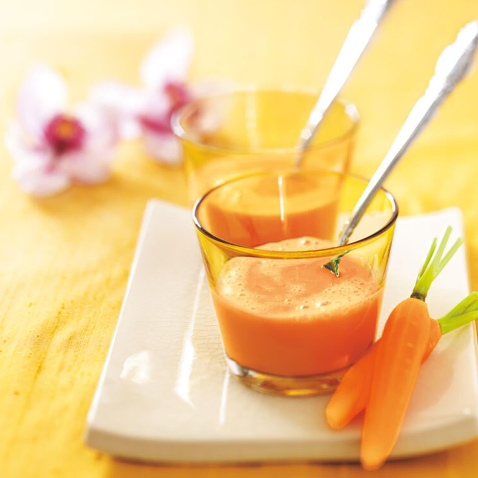Eine orangene Suppe